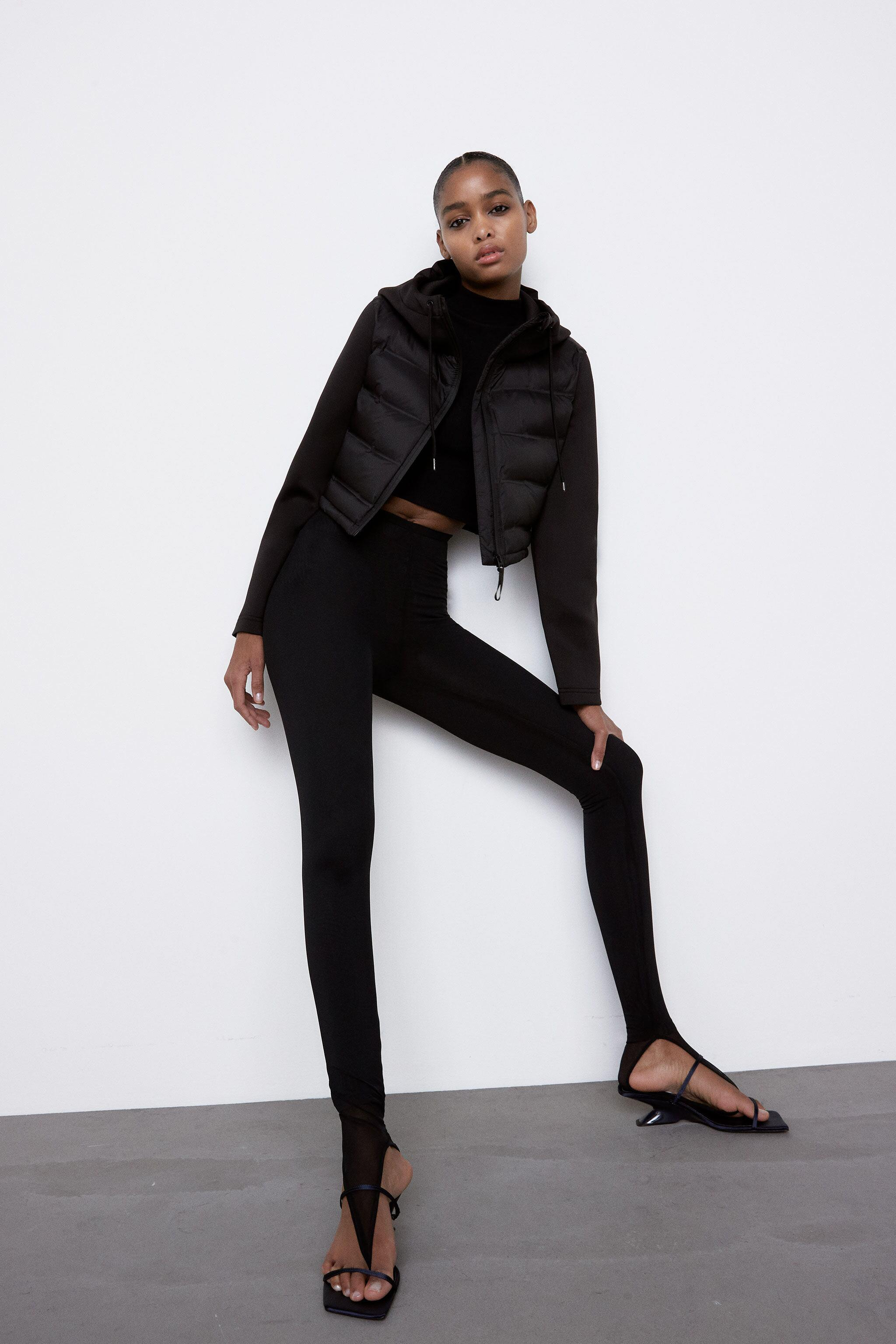 COMBINATION CROPPED PUFFER JACKET
