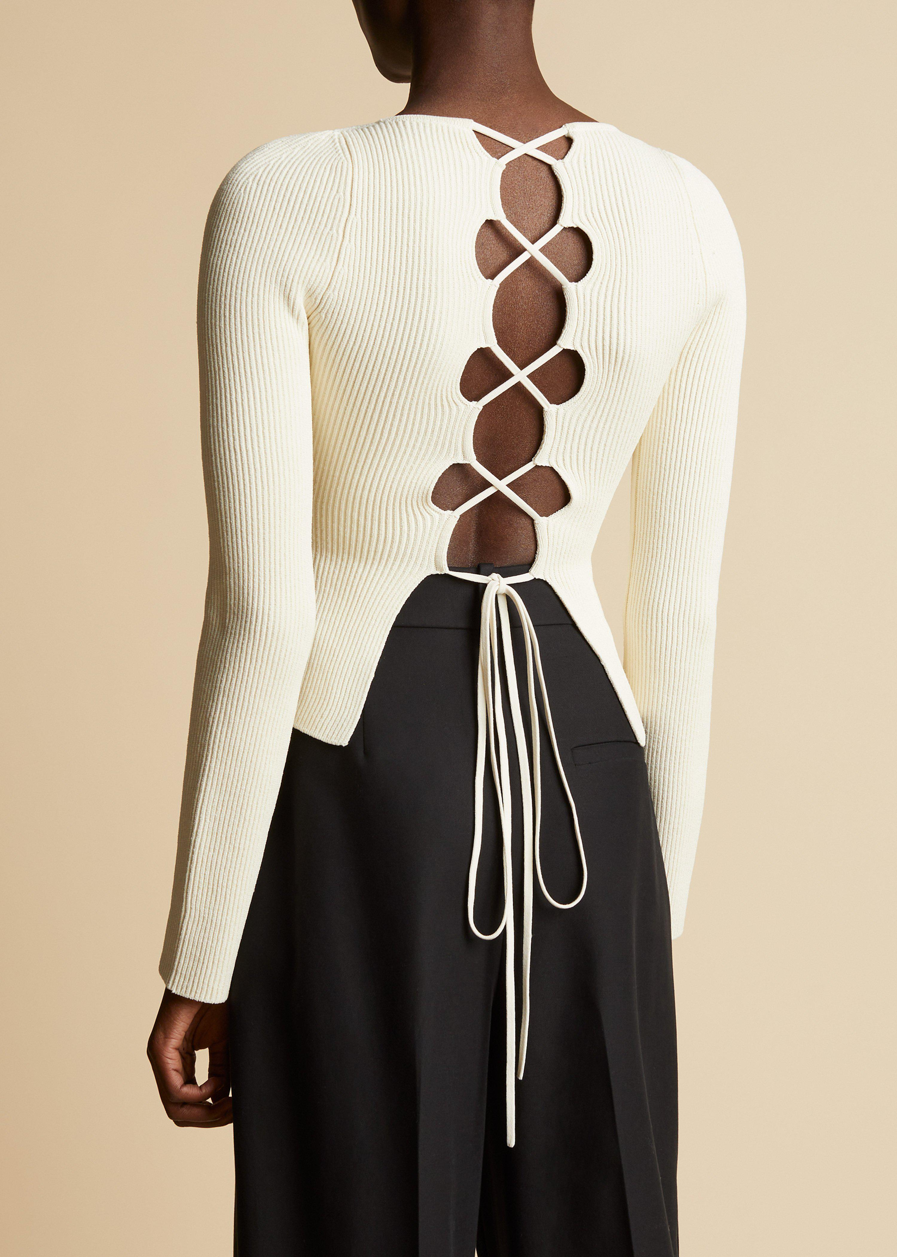 The Angelina Top in Ivory 2