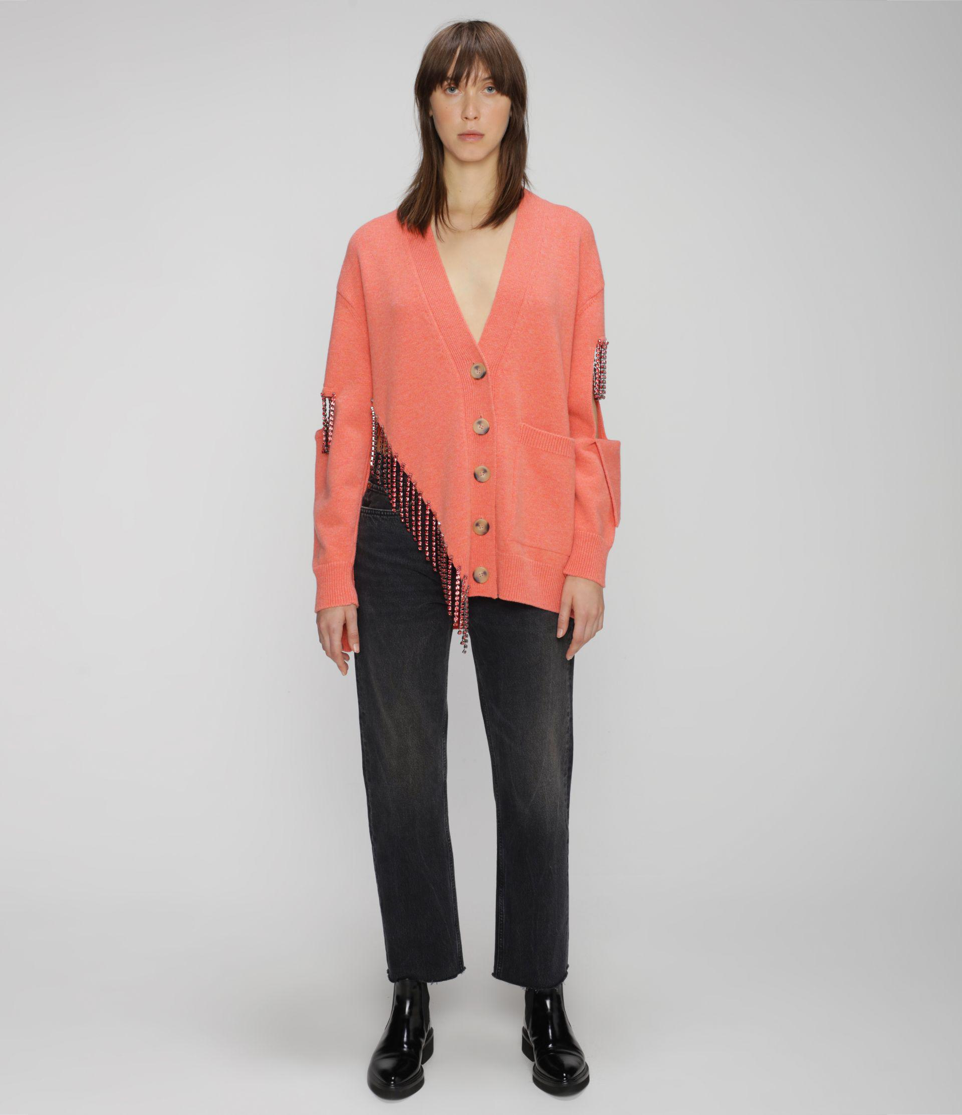cut-out cupchain knitted cardigan 3