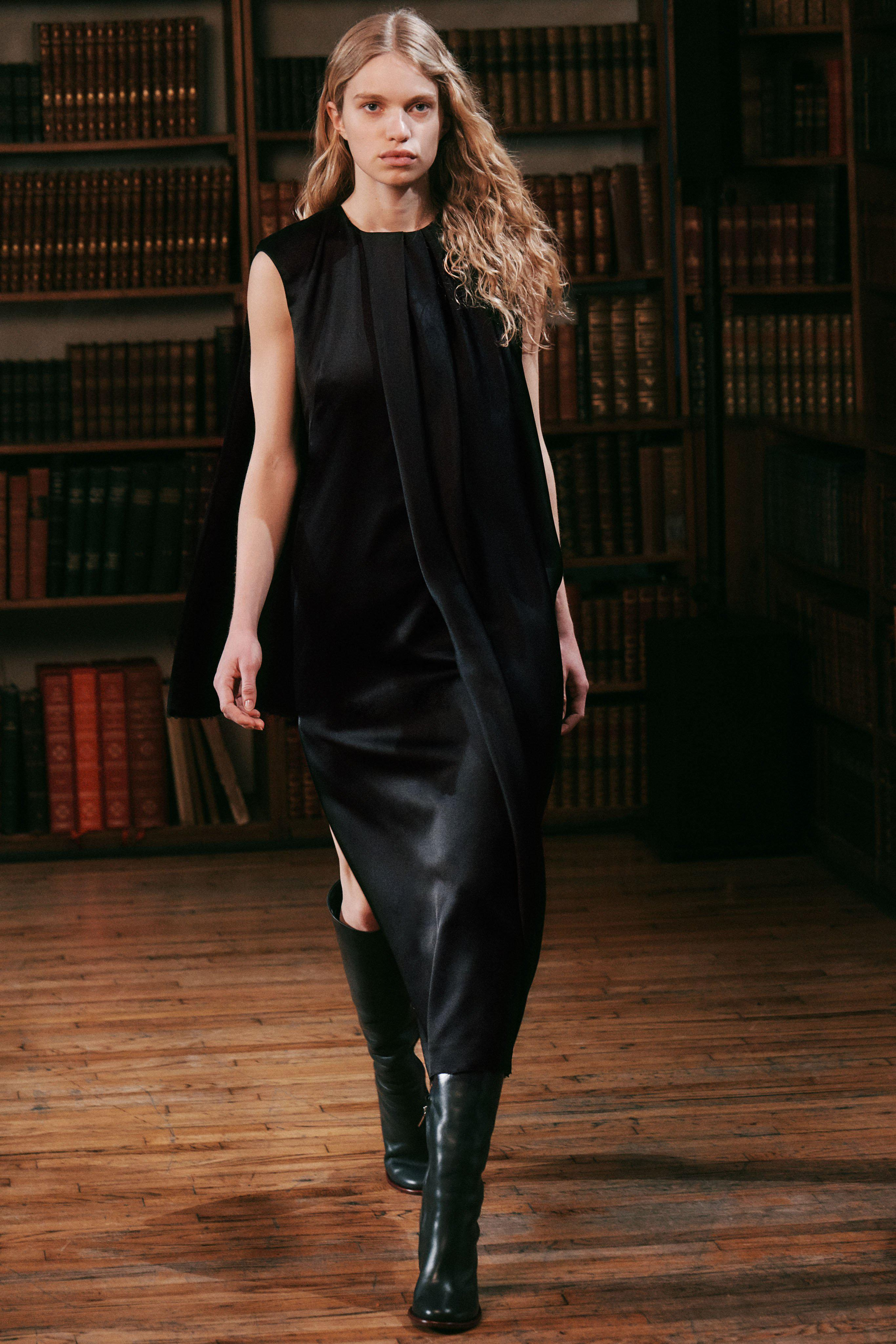 Cape Dress with Draped Detail