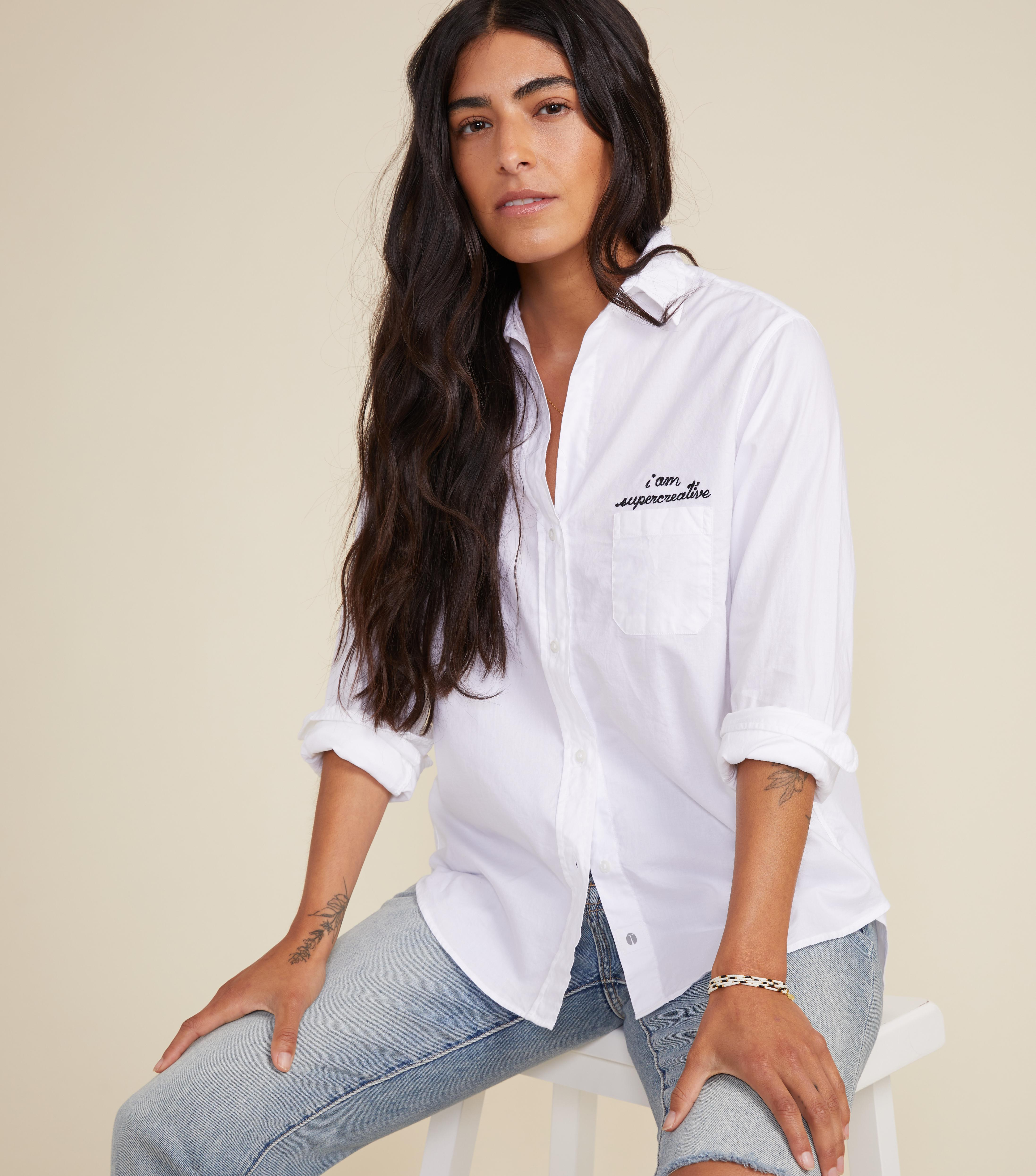 The Hero Button-Up Shirt Creative, Brushed Cotton