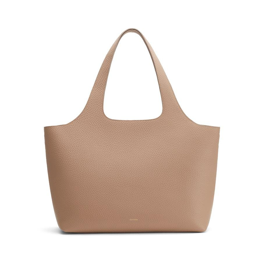 Women's System Tote Bag in Cappuccino | Size:
