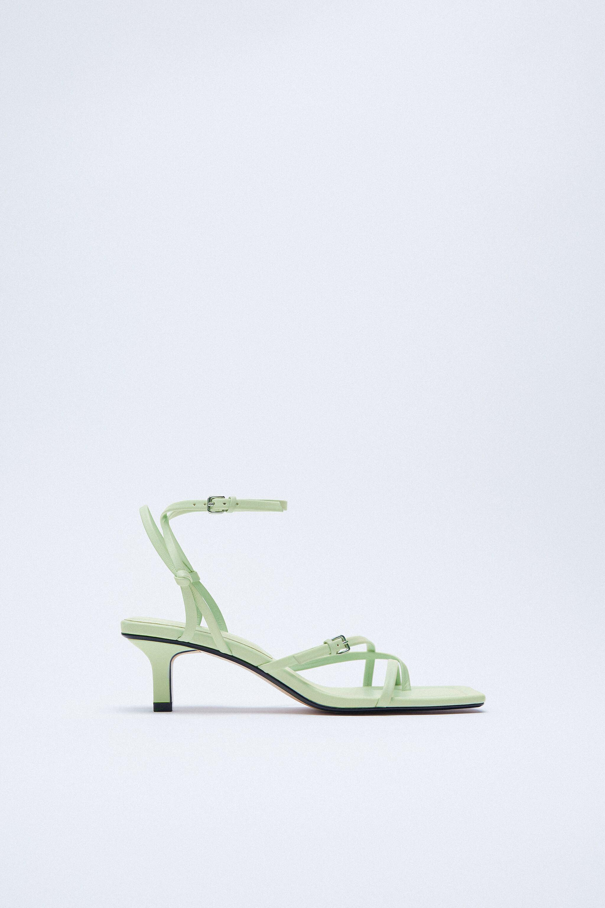 STRAPPY HEELED LEATHER SANDALS 2