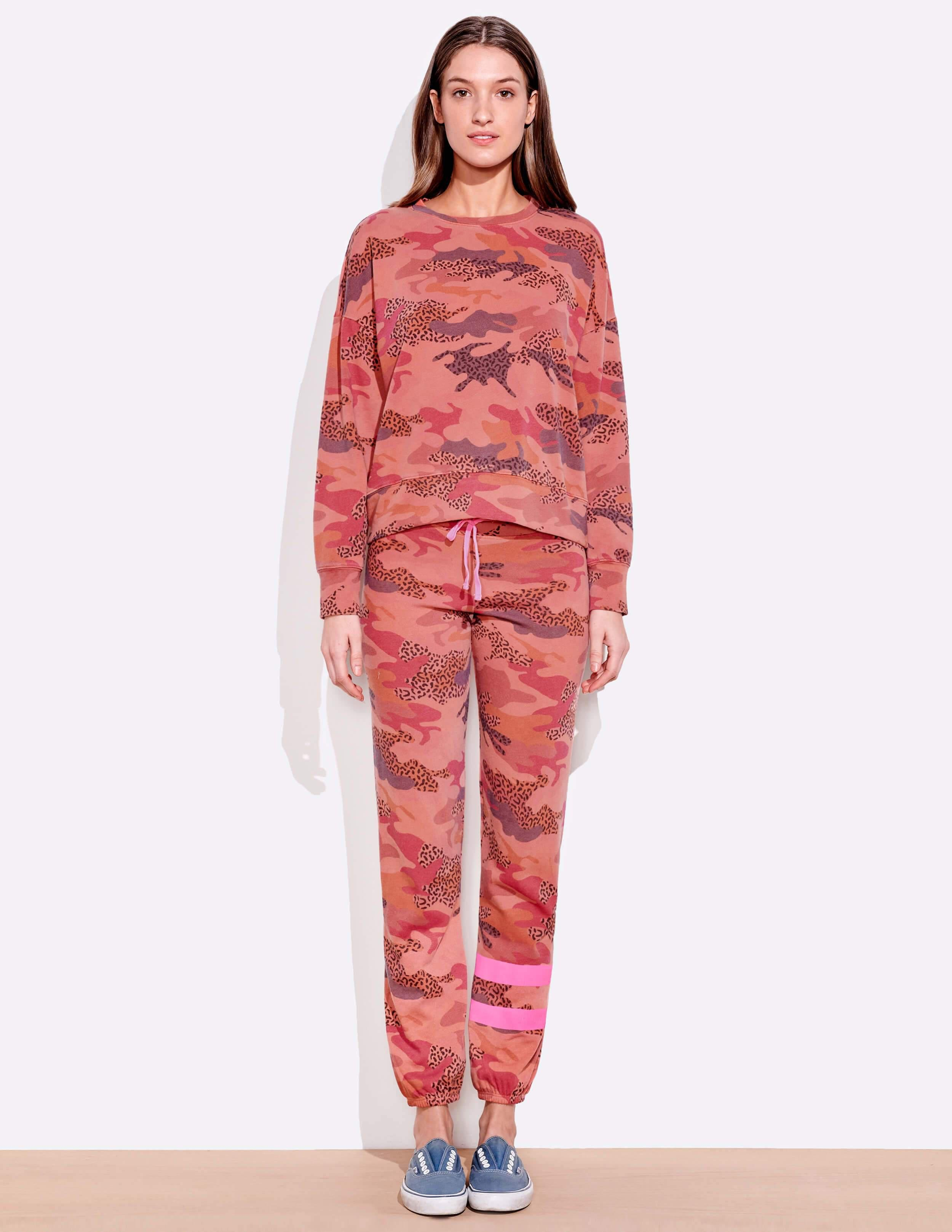 Abstract Camo Oversize Pullover 1