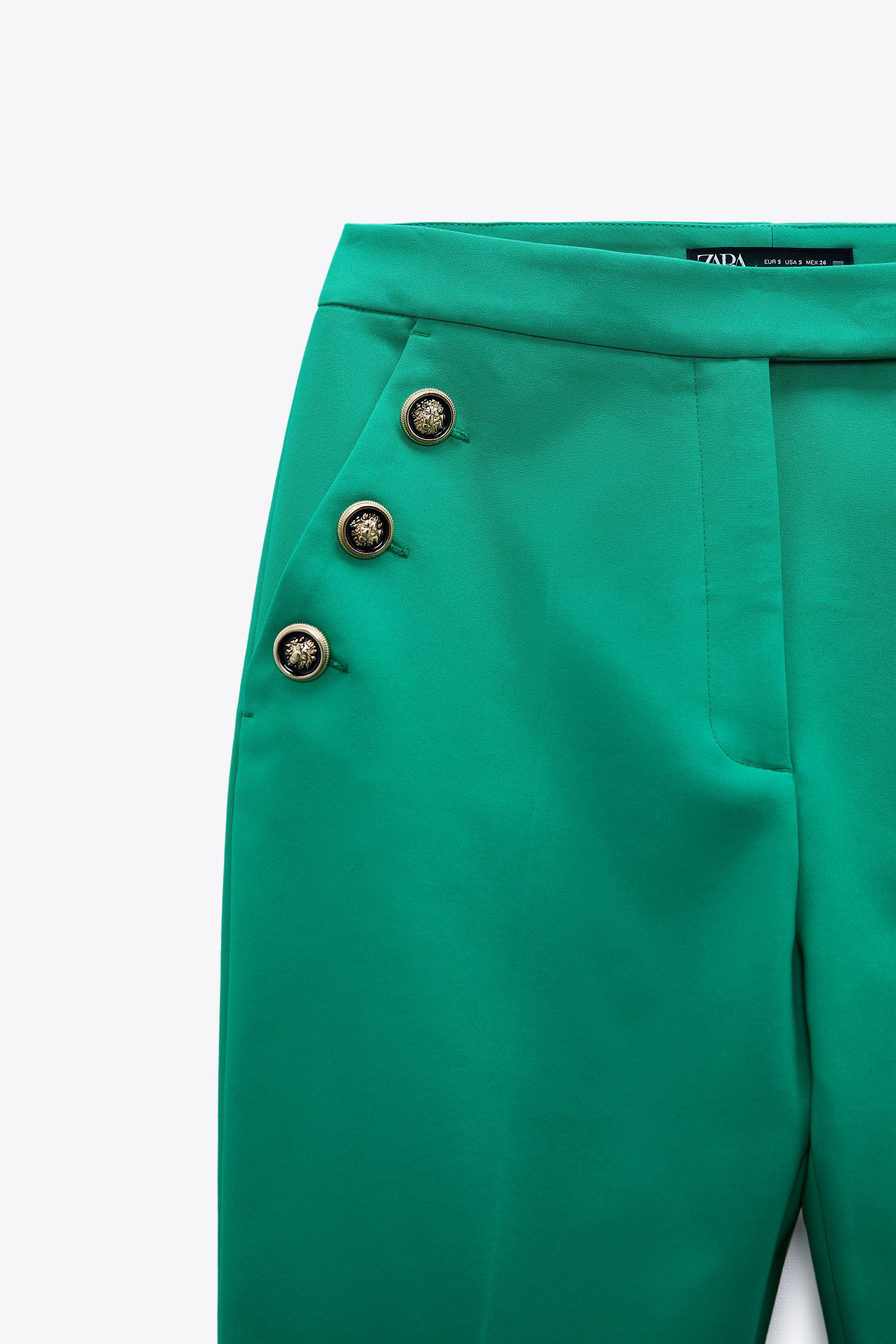 BUTTONED HIGH-WAISTED PANTS 3