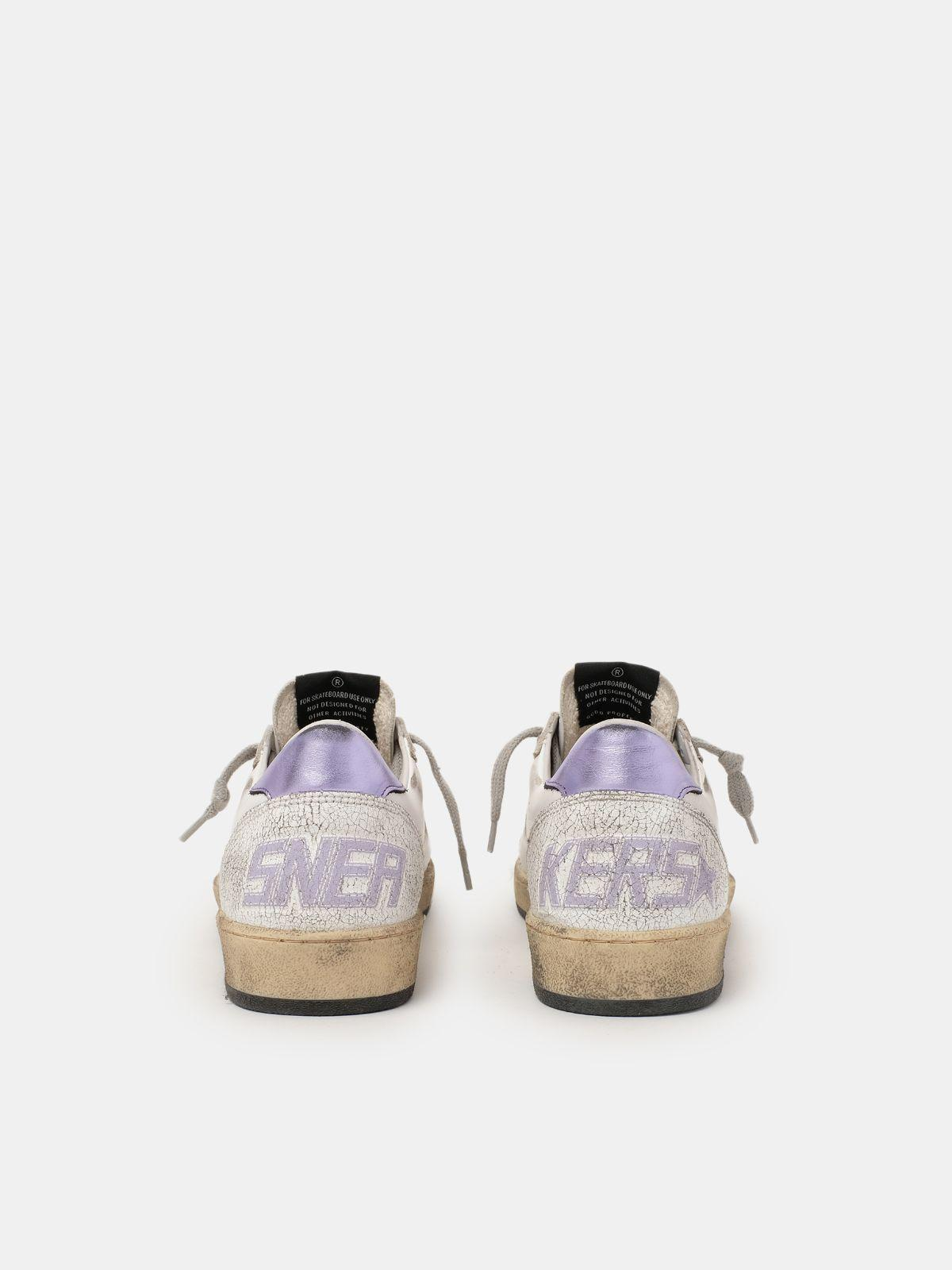 Ball Star sneakers with purple glitter 1