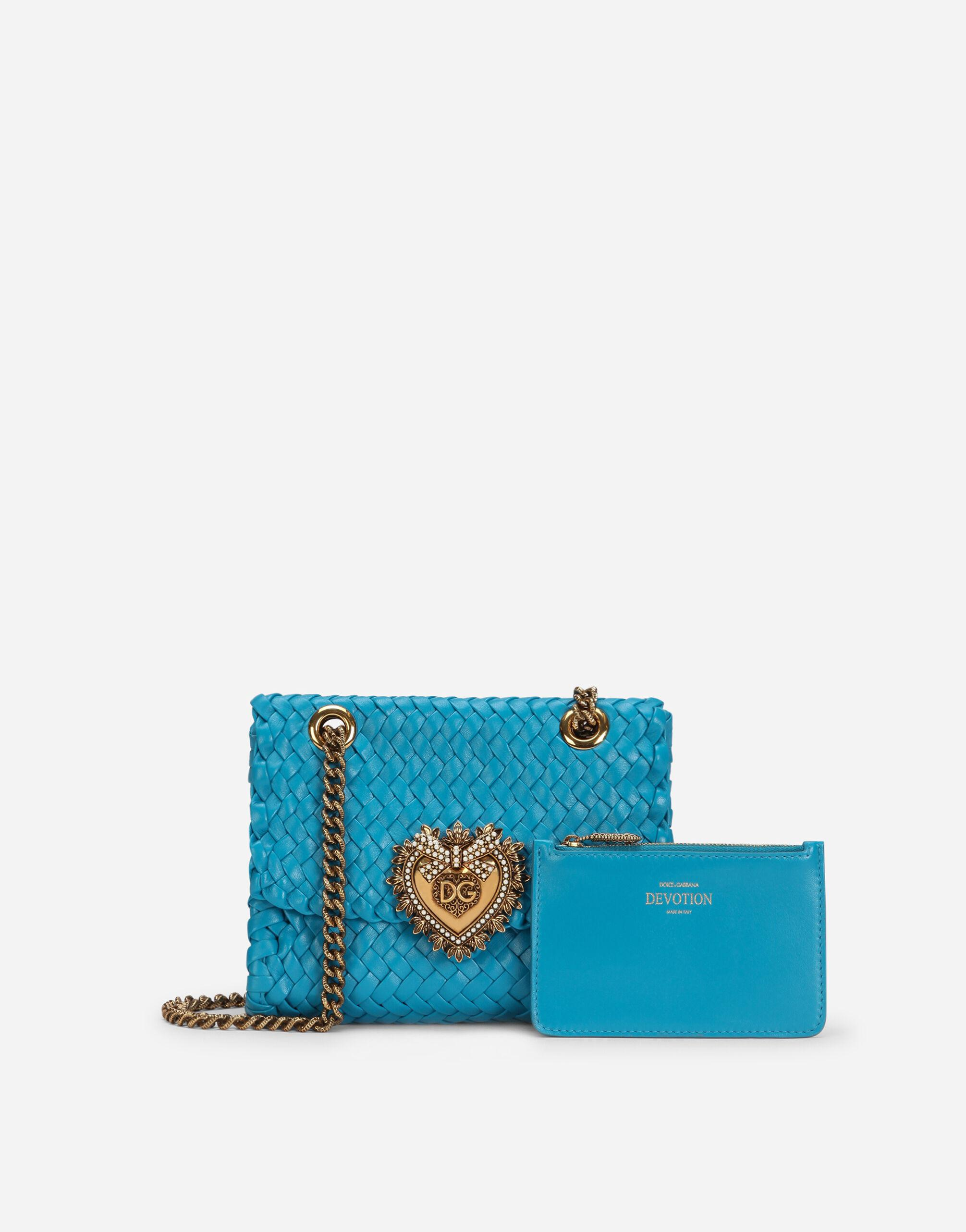 Small Devotion shoulder bag in woven nappa leather 3