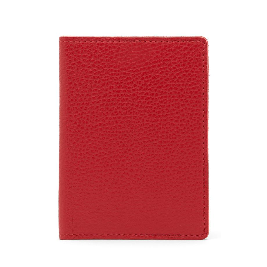 Women's Slim Leather Passport Case in Red | Pebbled Leather by Cuyana