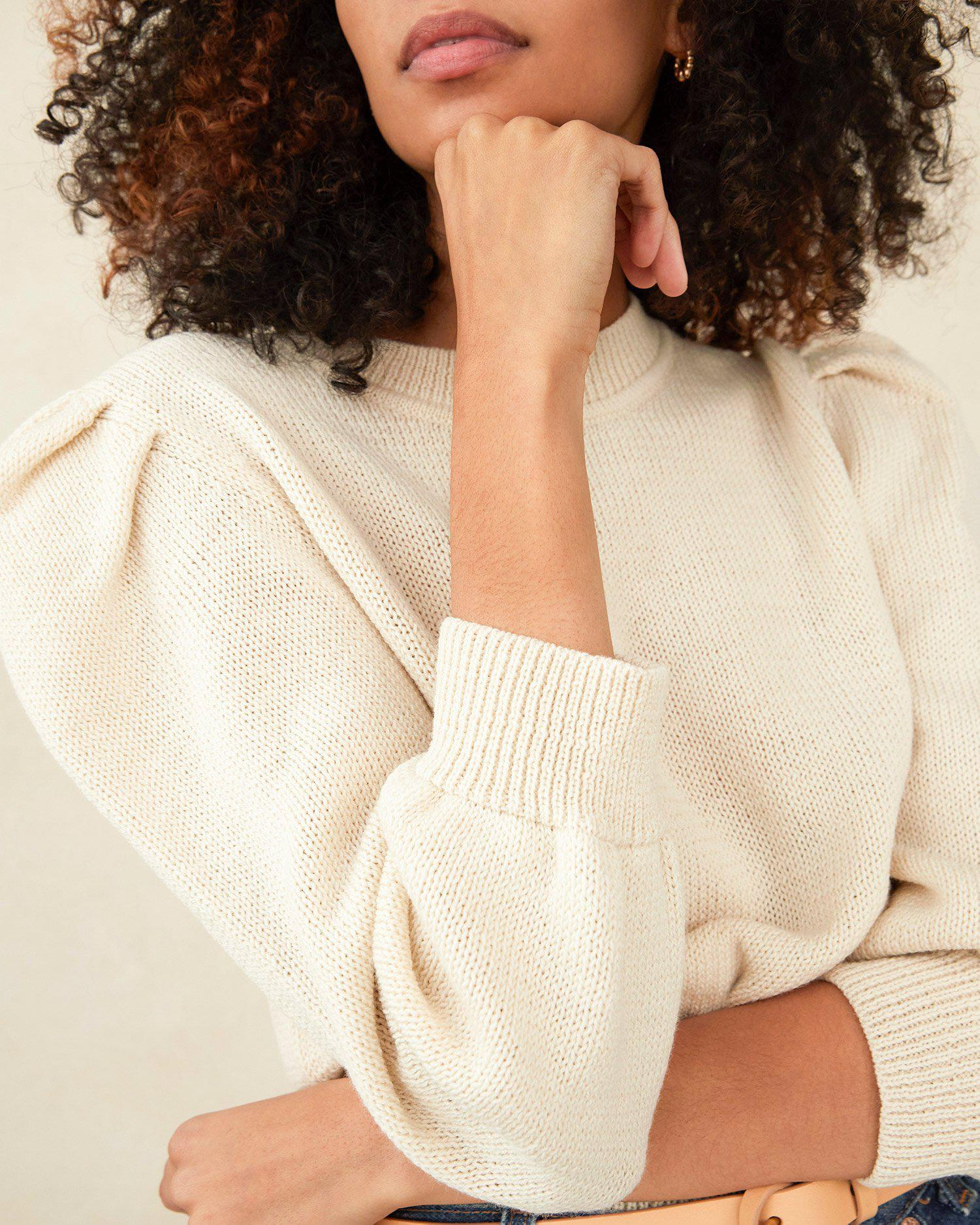 Knits for Good Cream Sweater 1
