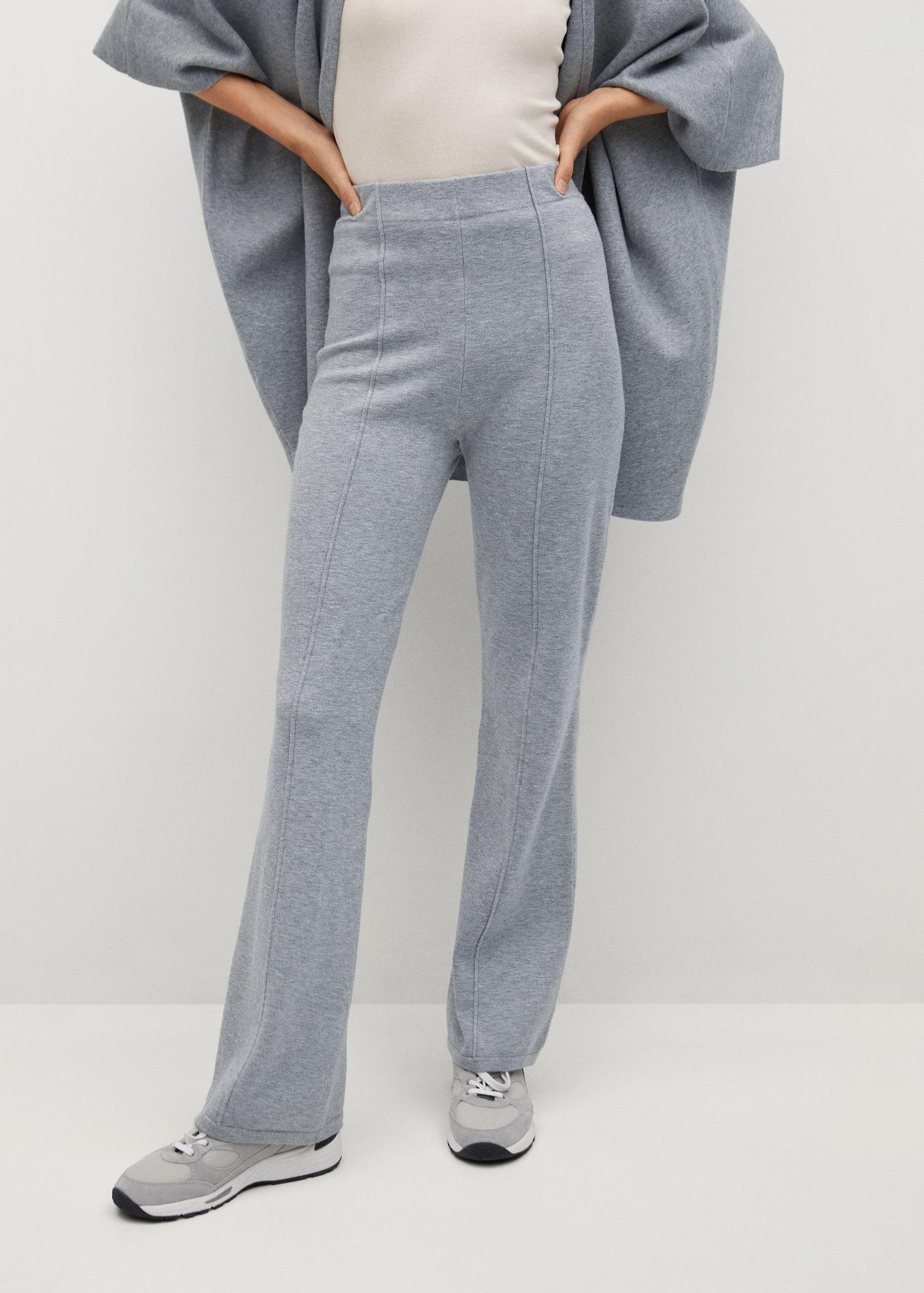 Flared knitted pants