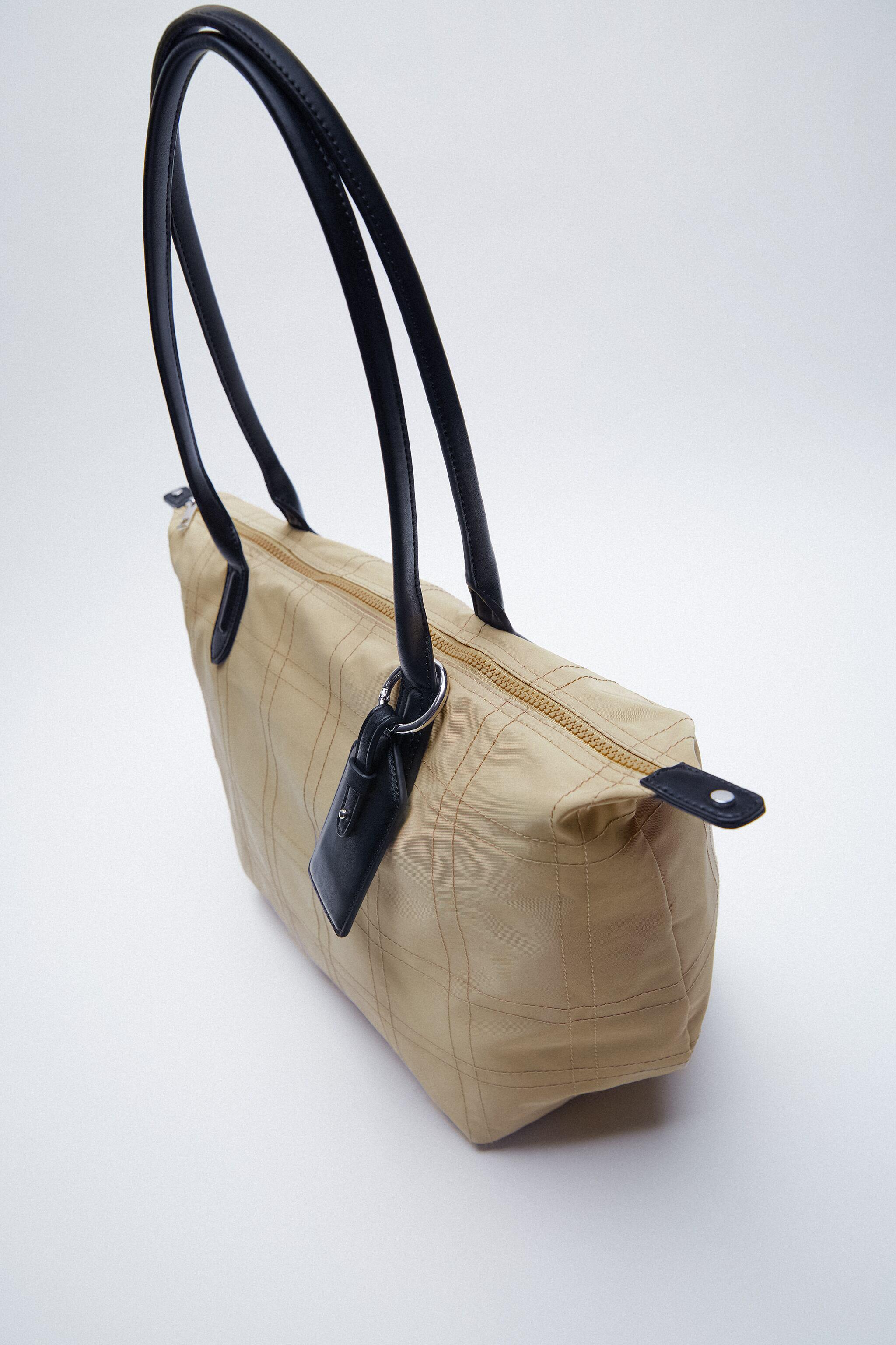 NYLON TOTE BAG WITH TOPSTITCHING 4
