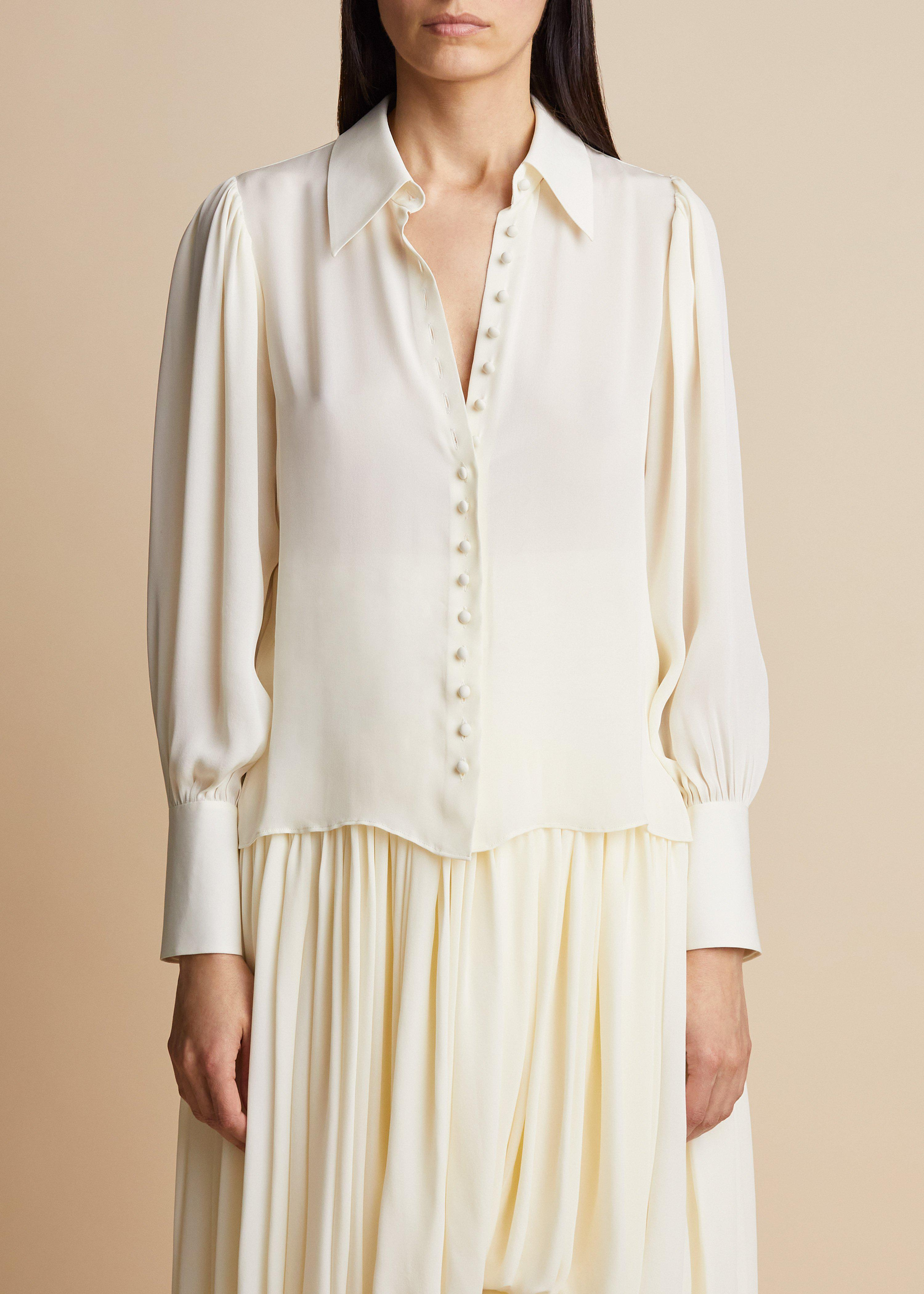 The Cristiana Top in Ivory