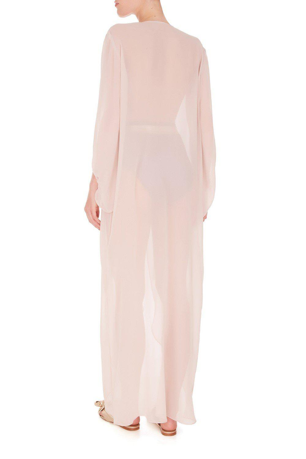 Fig Solid Long Robe 2