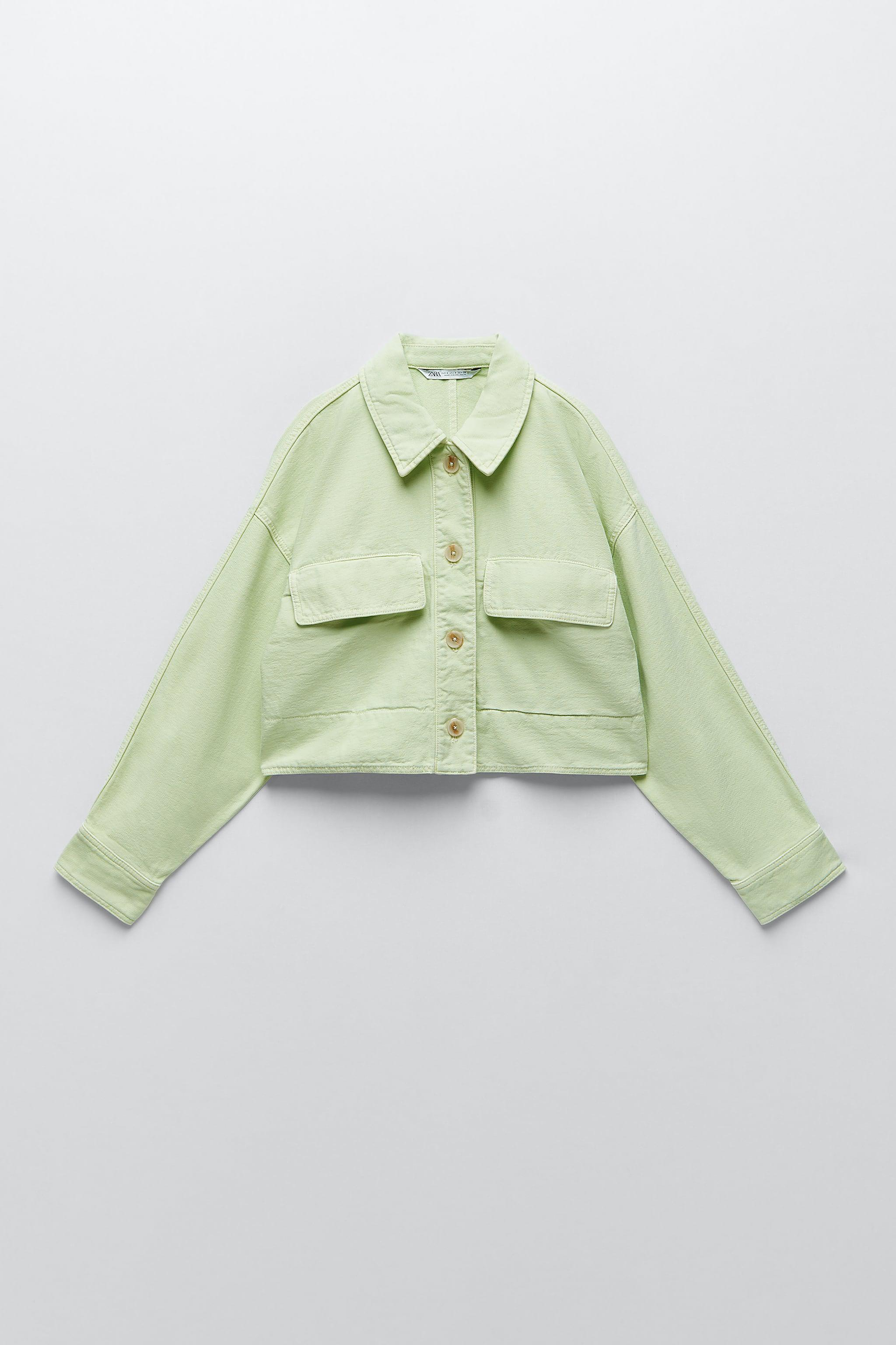 SOLID COLOR CROPPED OVERSHIRT 4