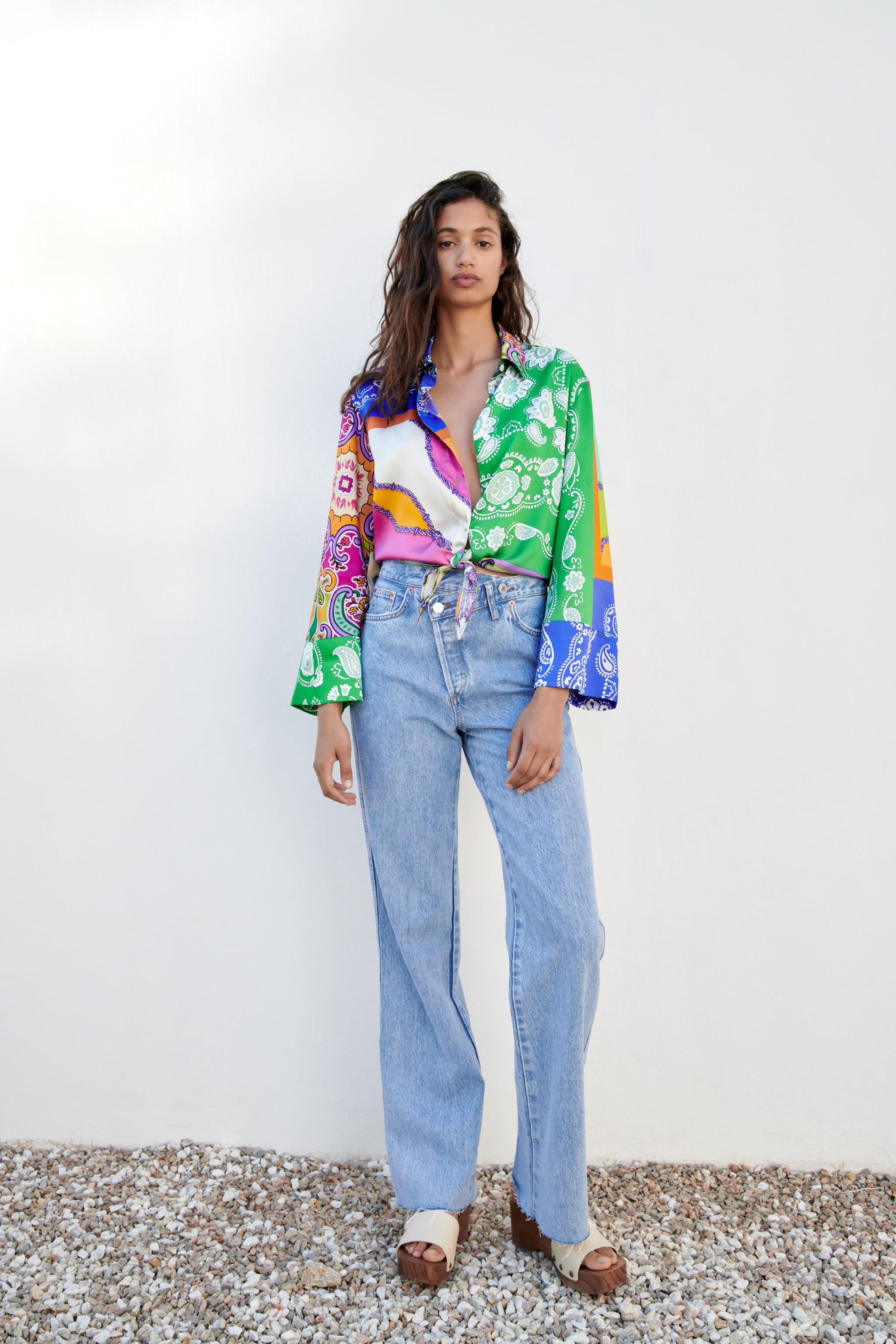 TIED PATCHWORK SHIRT