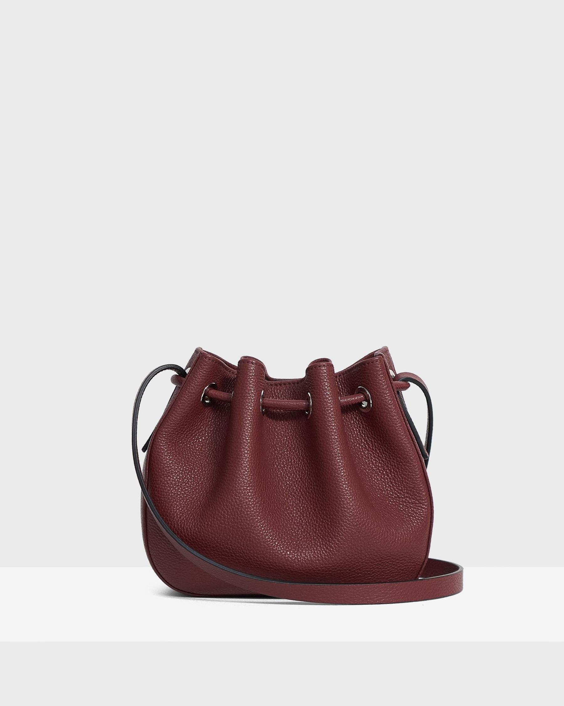 Micro Bucket Bag in Pebbled Leather 2
