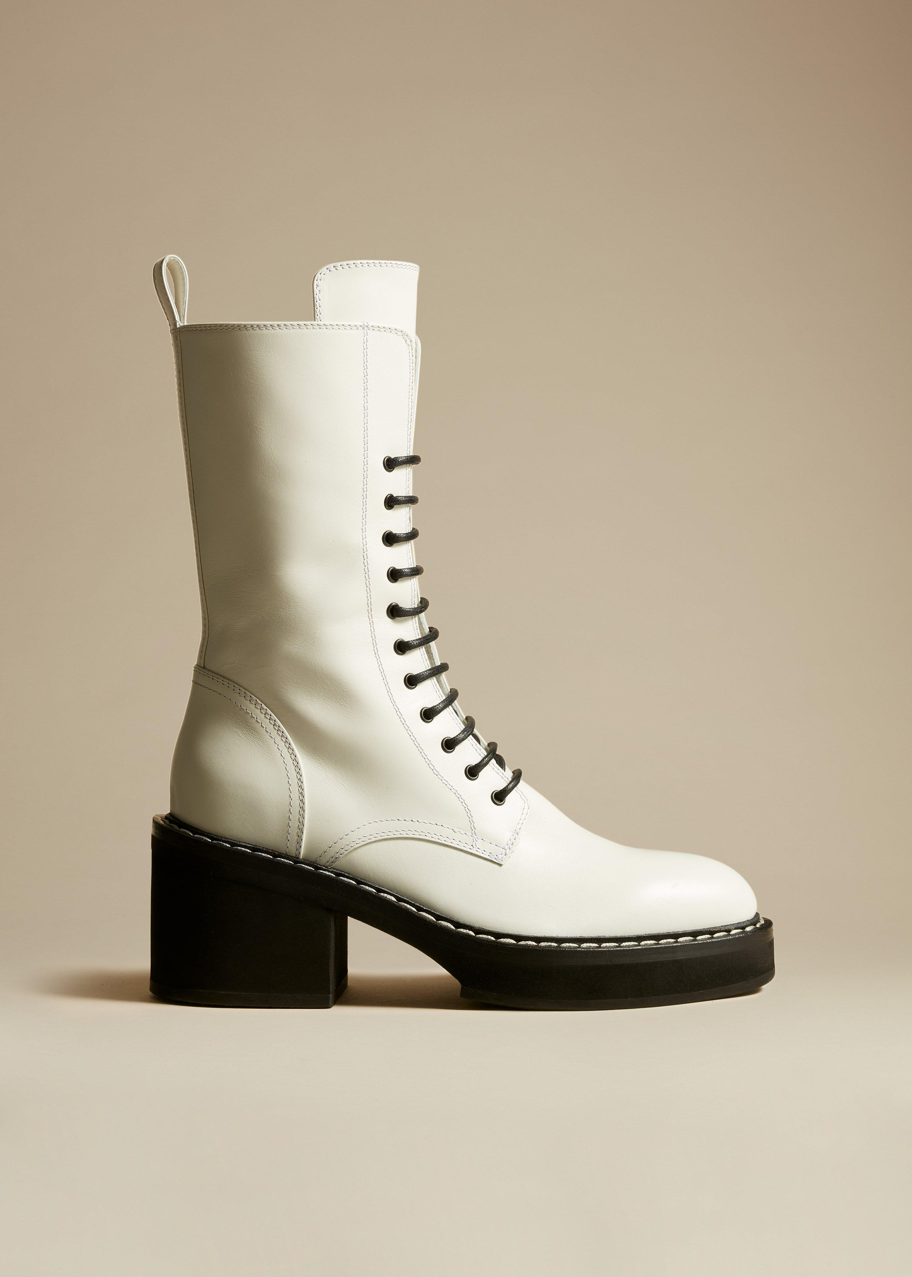 The Cody Boot in White Leather