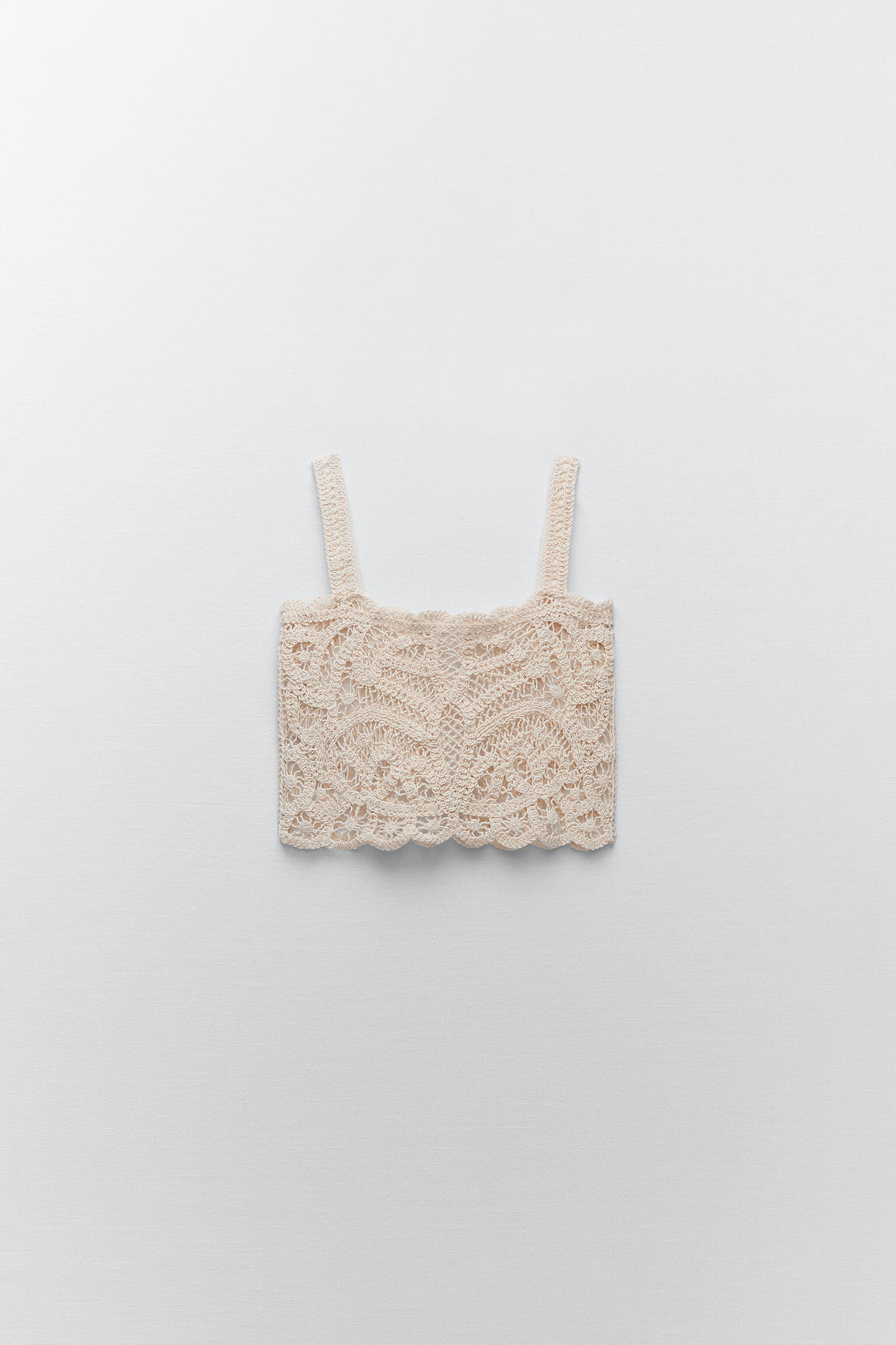 EMBROIDERED GUIPURE LACE CROP TOP LIMITED EDITION 3