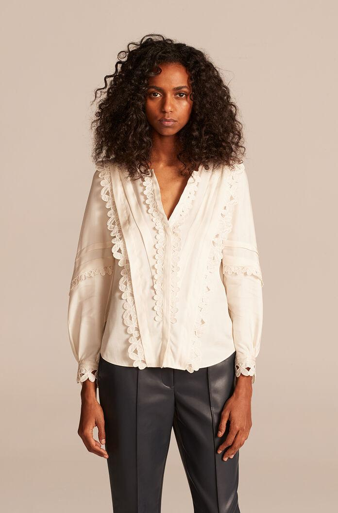 EMBROIDERED SILK TOP 3