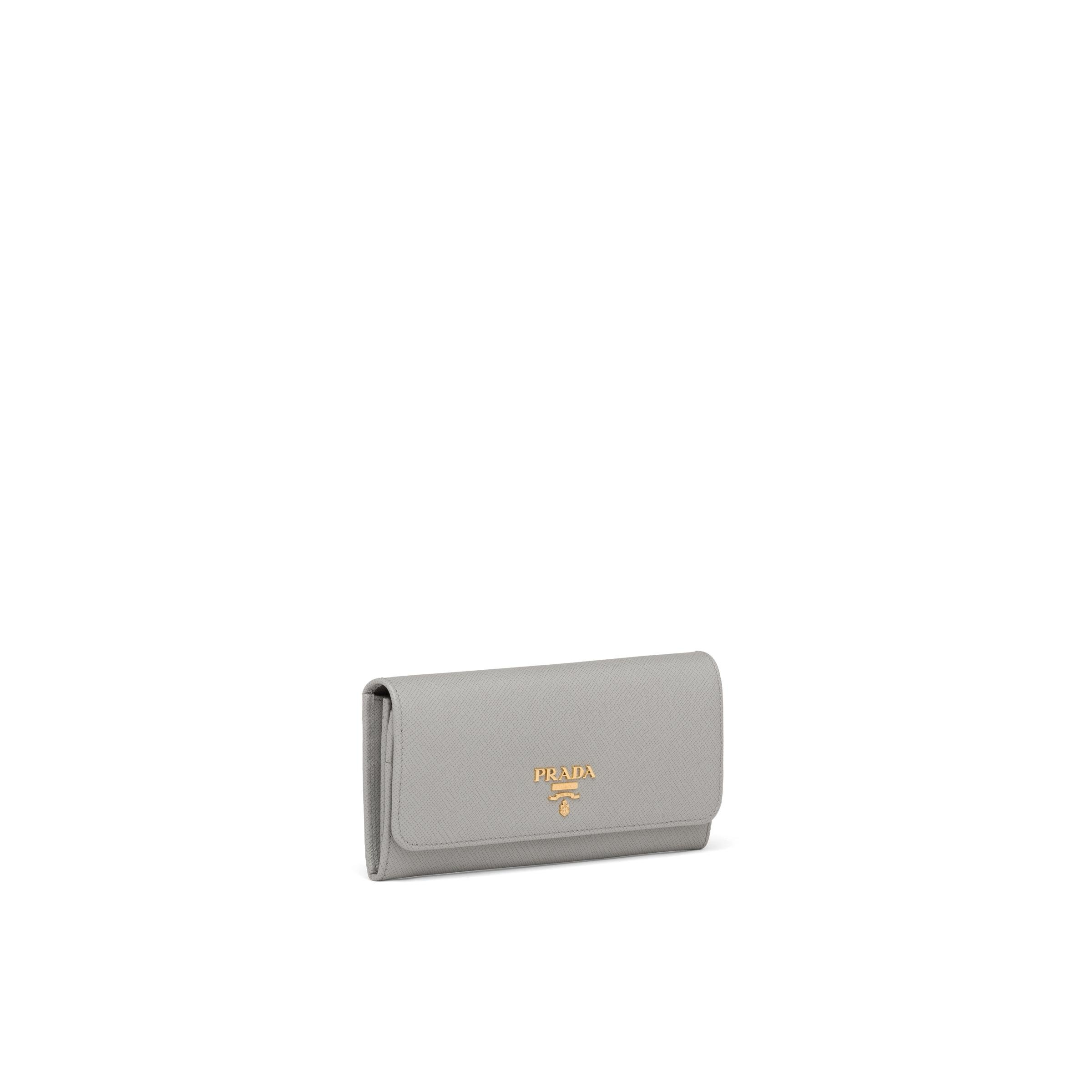 Large Saffiano Leather Wallet Women Cloudy Gray/marble Gray 3