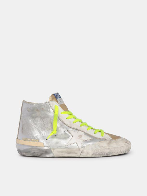 LTD Francy sneakers in silver and gold leather