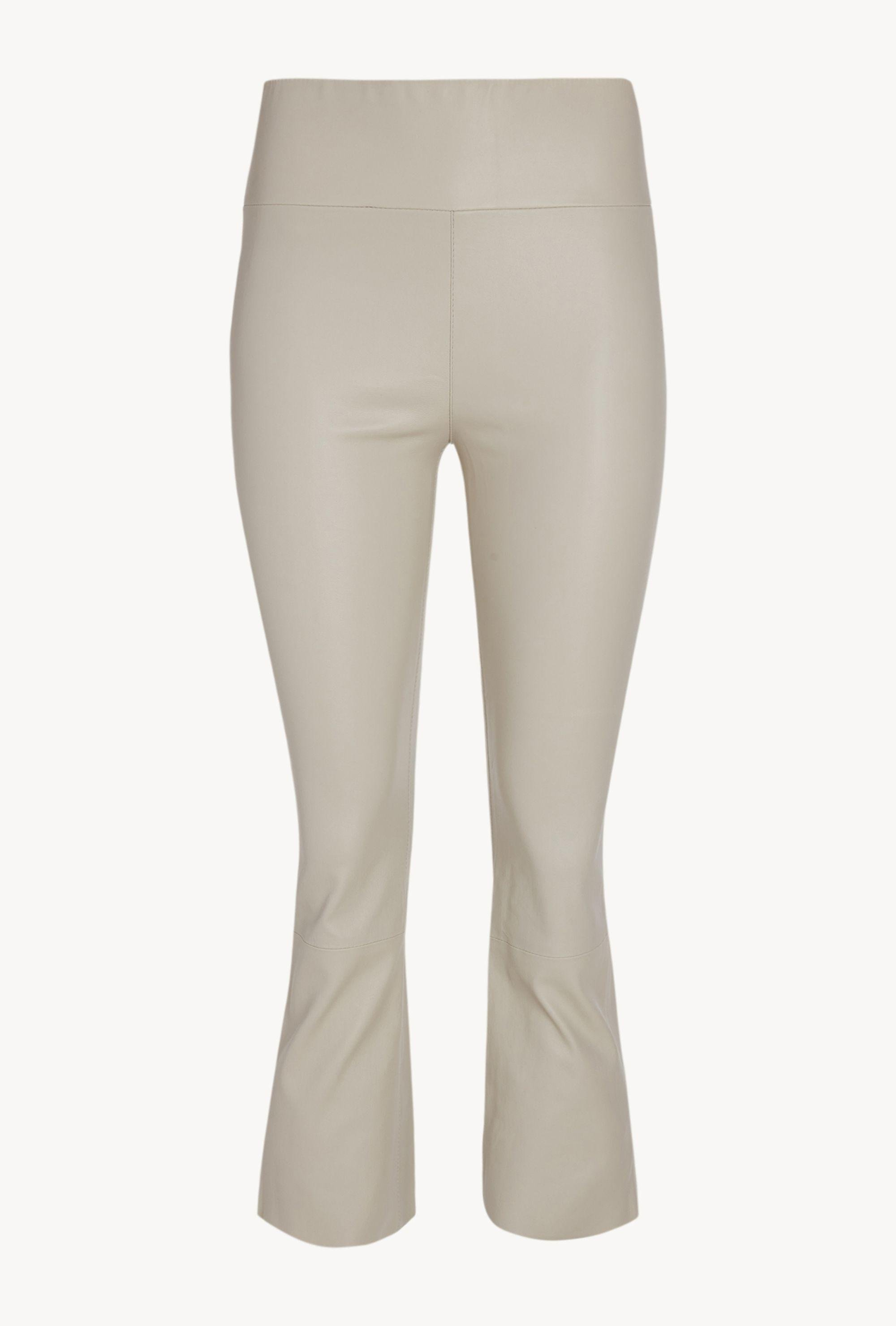 Off White Leather Crop Flare Legging 3