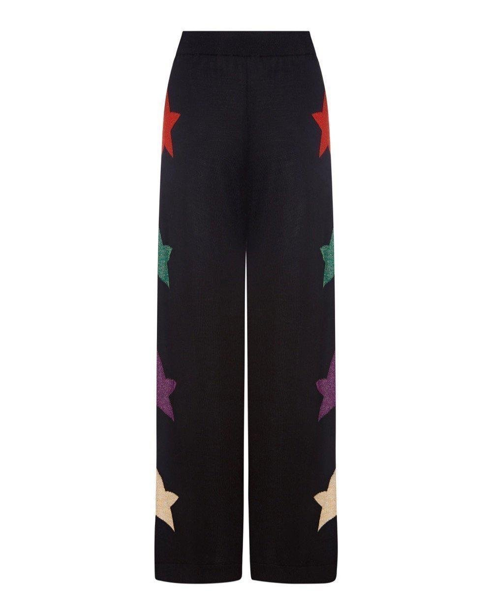 Star Knit Wide Track Pant Long 2
