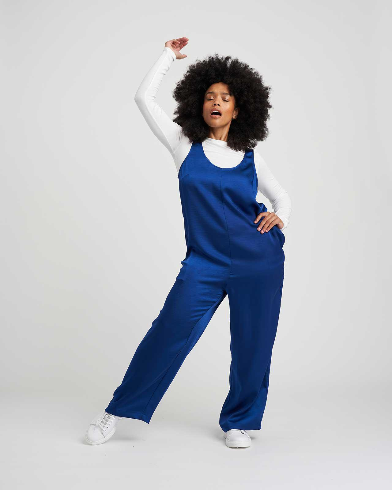 Judy Satin Relaxed Jumpsuit 5