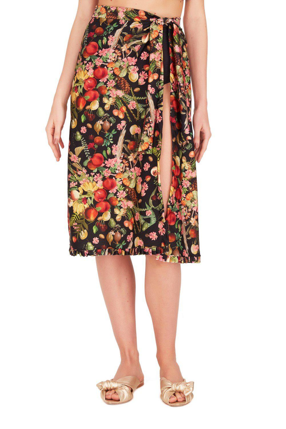 Fruits Exotiques Pareo Skirt with Frills 1