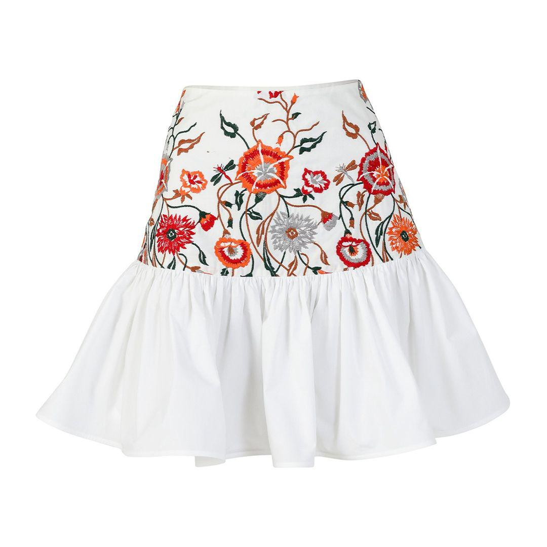 Buccan Skirt Rose Embroidered