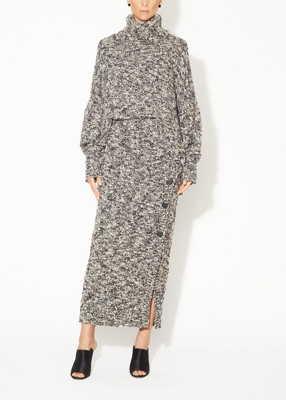 PENCIL SKIRT IN WOOL BOUCLE