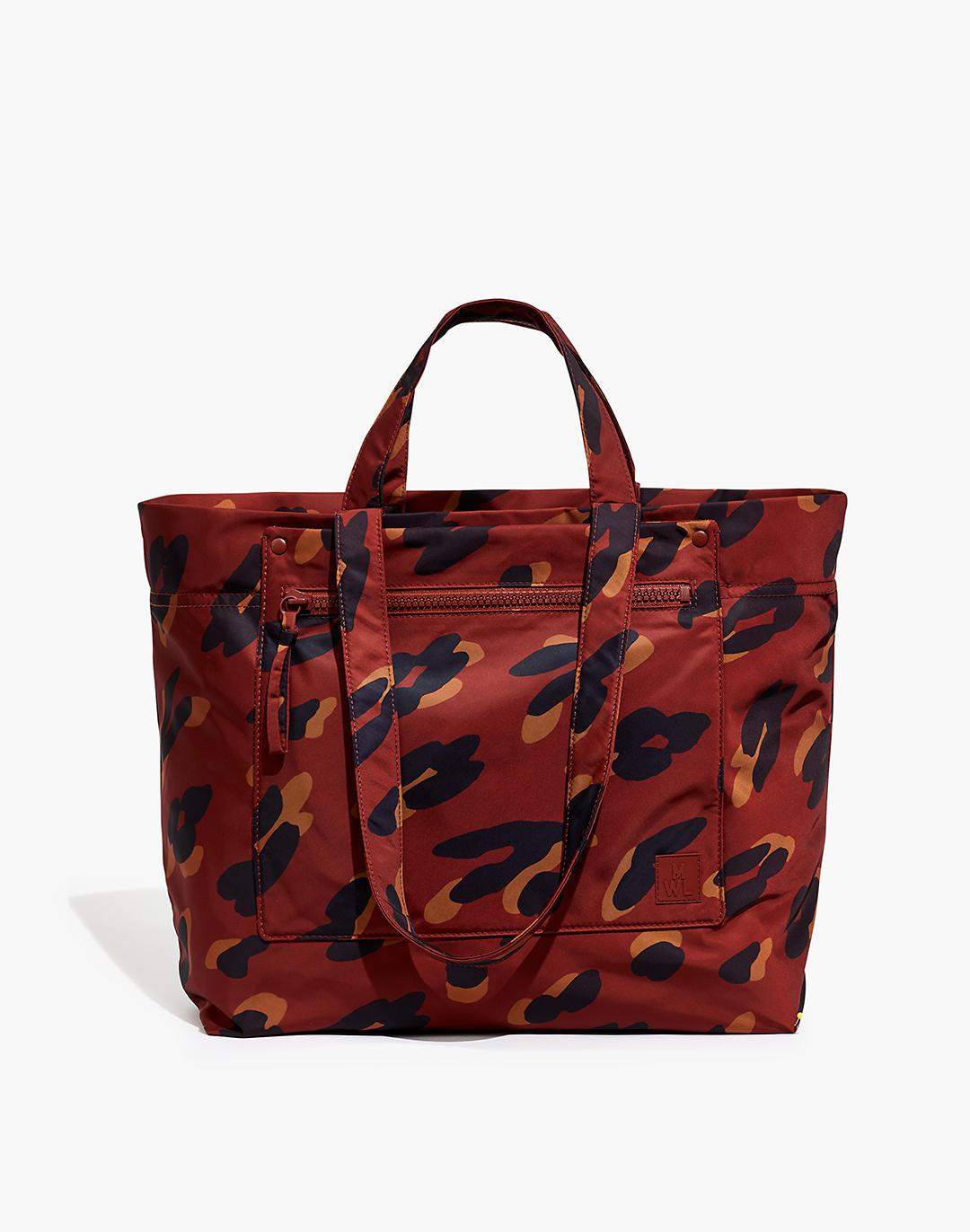 The (Re)sourced Tote Bag in Painted Leopard