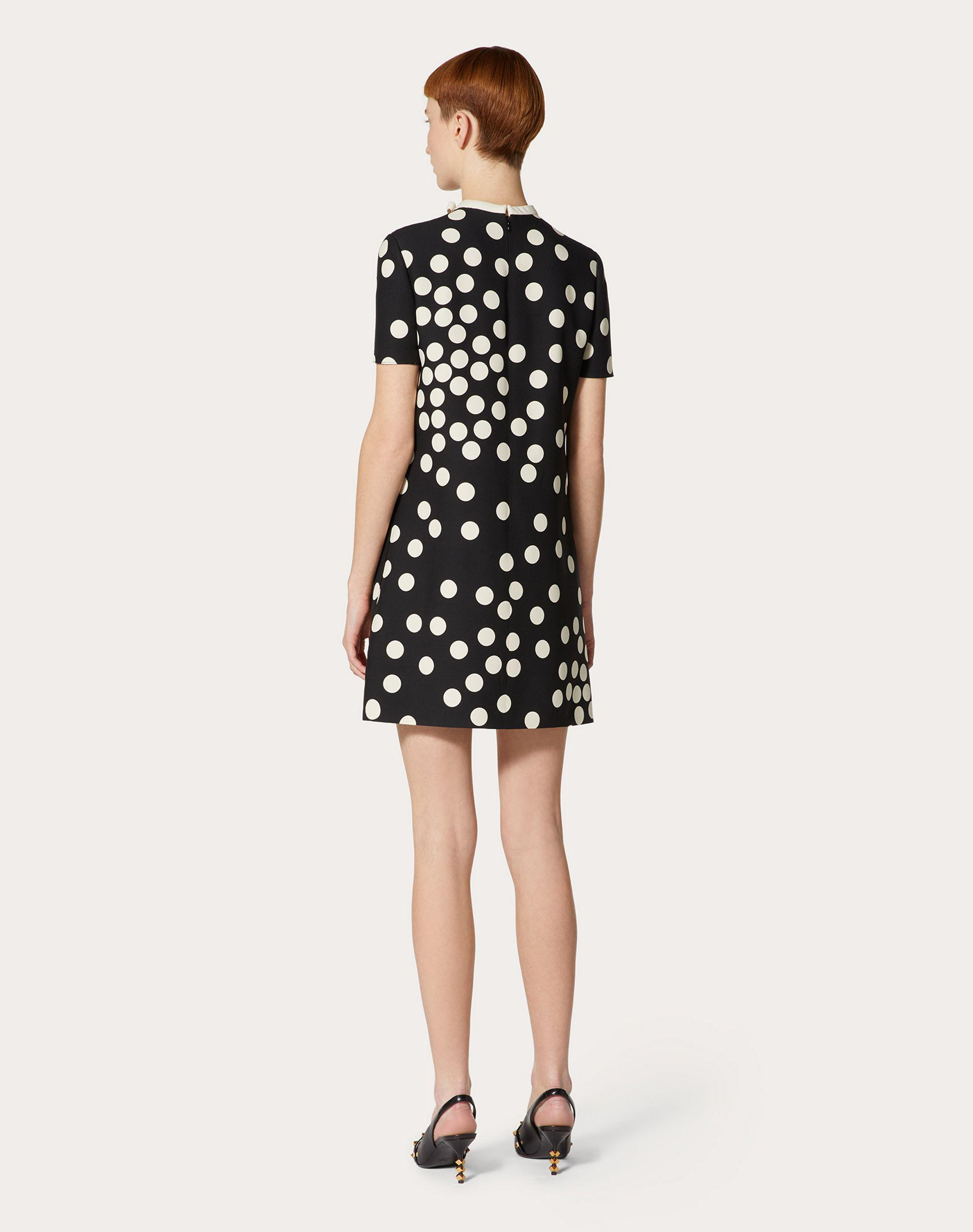SHORT PRINTED CREPE COUTURE DRESS 2