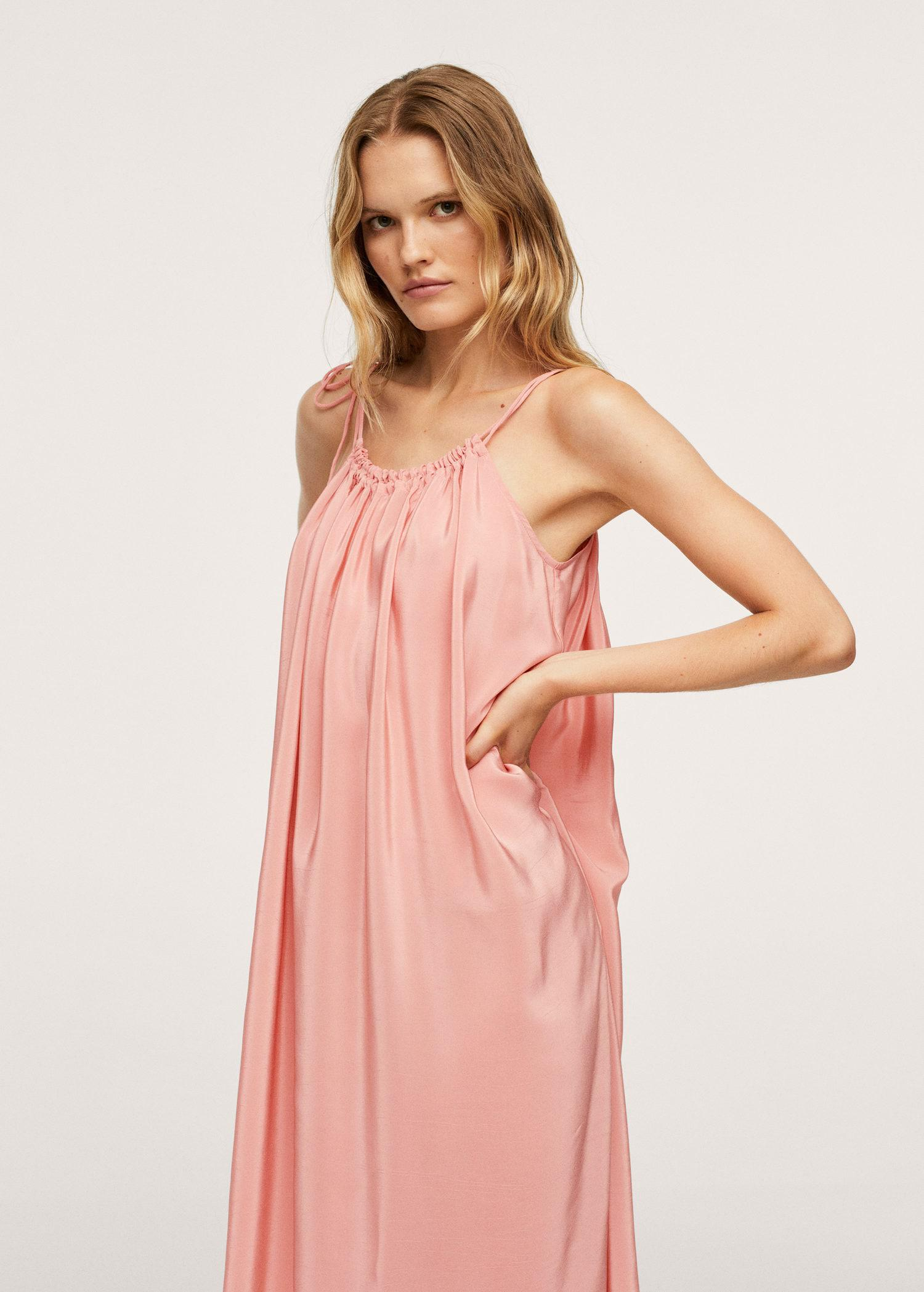 Ruched straps dress