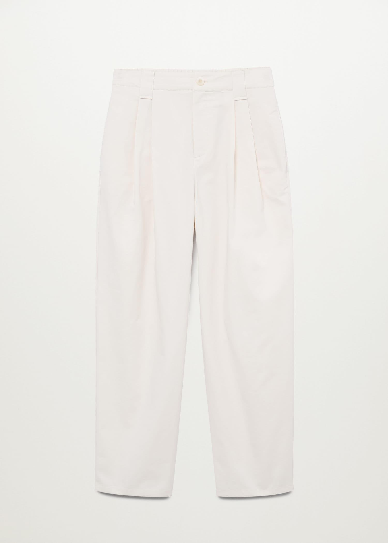 Pleat straight trousers 8
