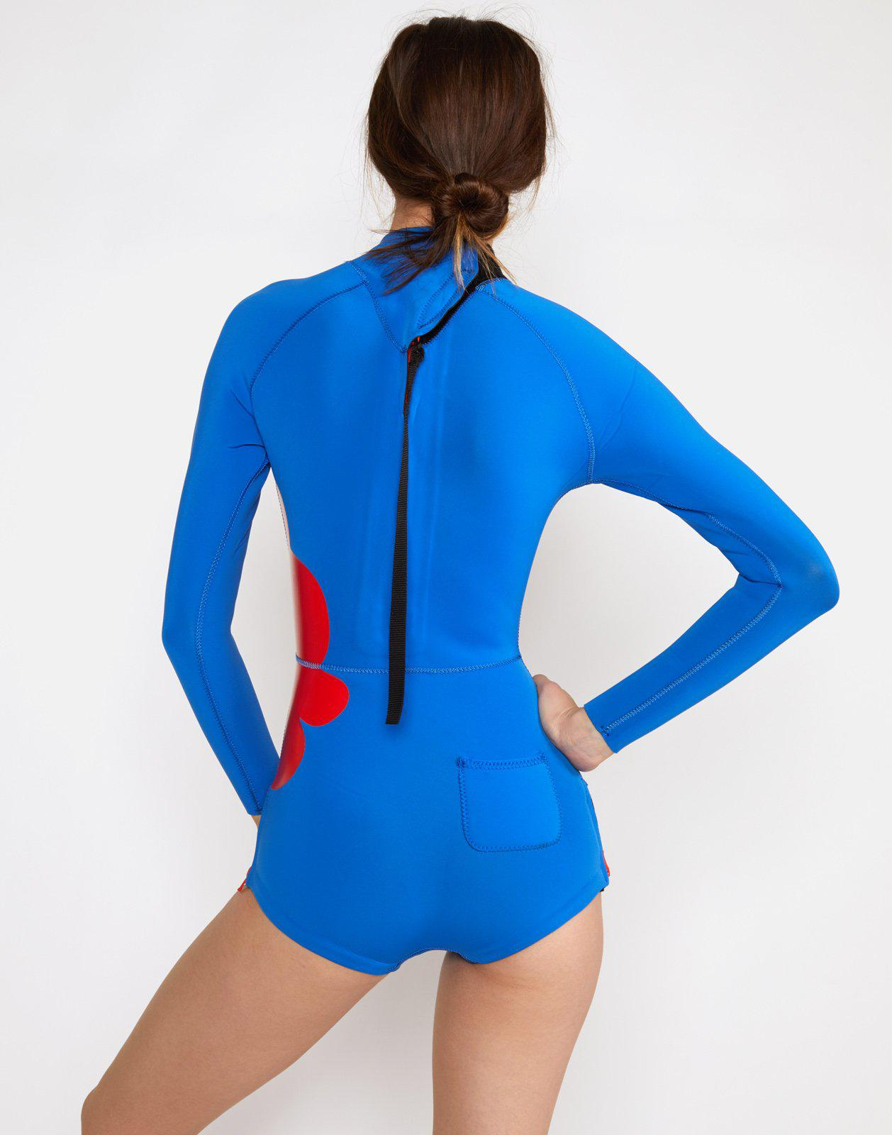 Large Placed Floral Wetsuit 2