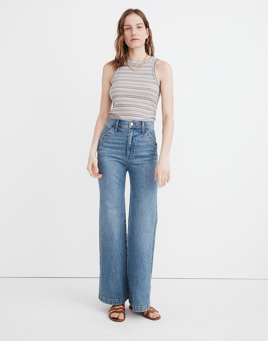 """11"""" High-Rise Flare Jeans in Erickson Wash: Stitched-Pocket Edition"""