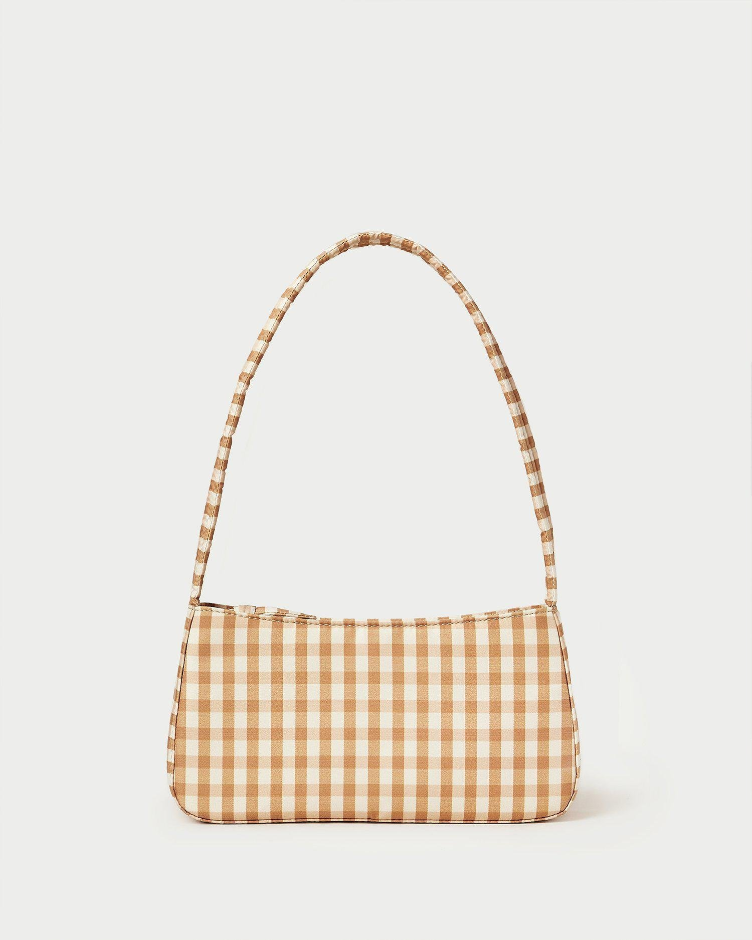 Tristan Amber Quilted Baguette Bag