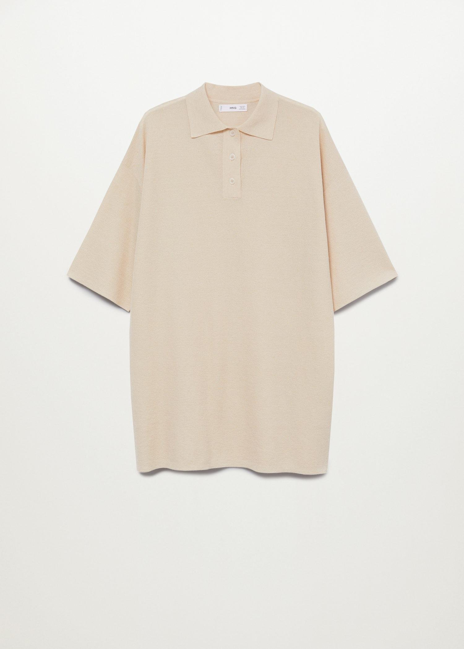 Oversized knitted polo shirt 6