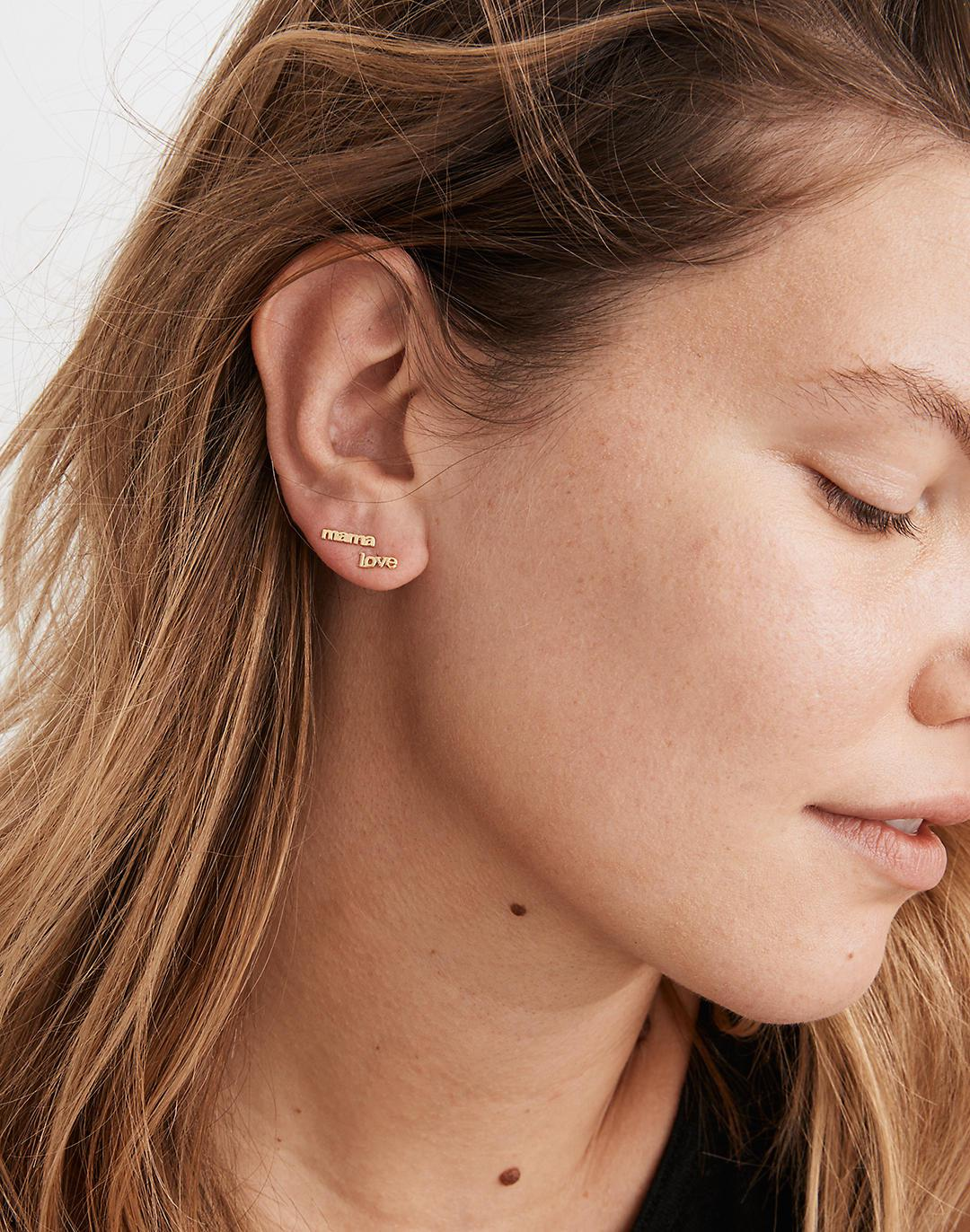 Delicate Collection Demi-Fine 14k Plated Mismatch Mama Stud Earrings 1
