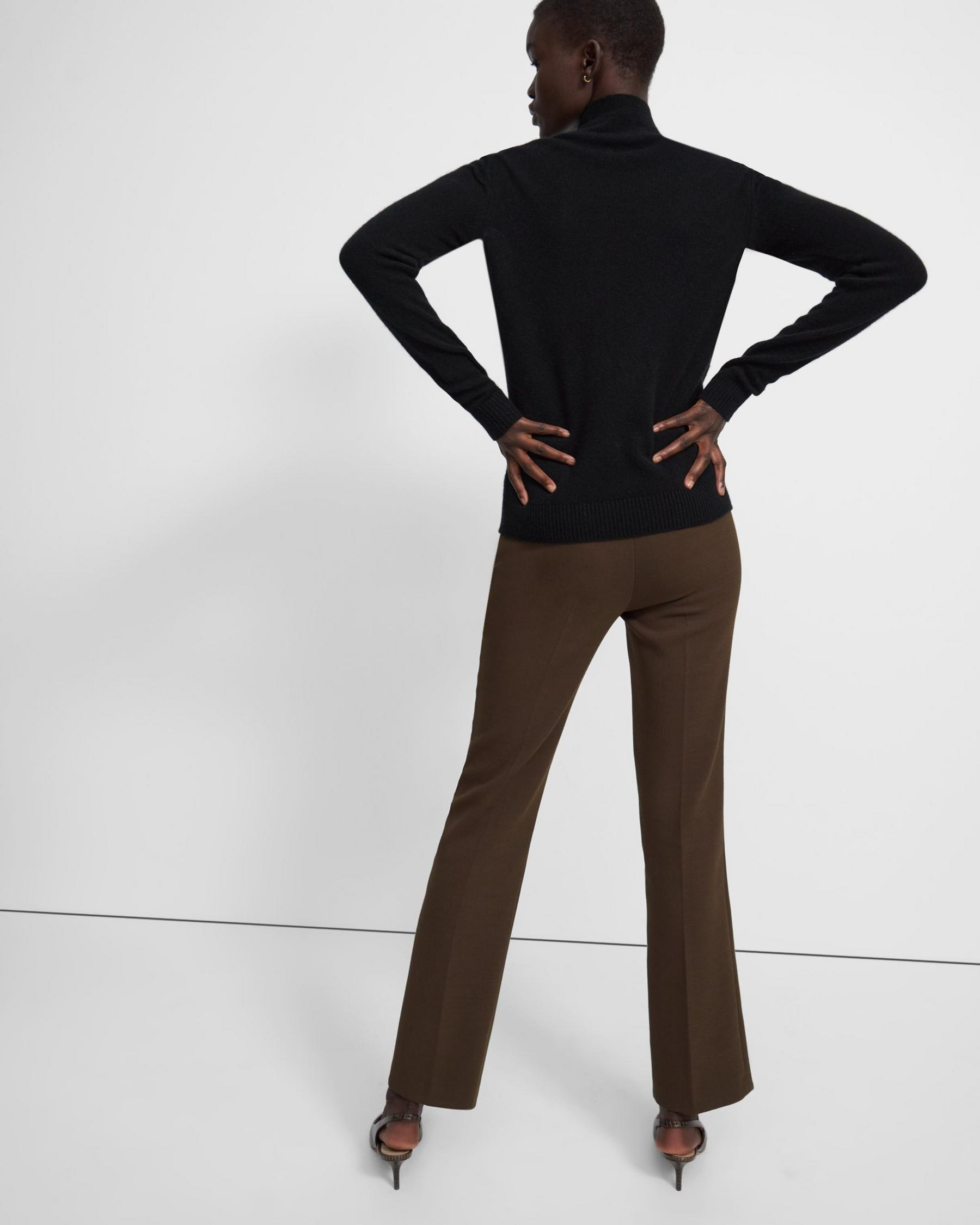 Basic Turtleneck Sweater in Feather Cashmere 2
