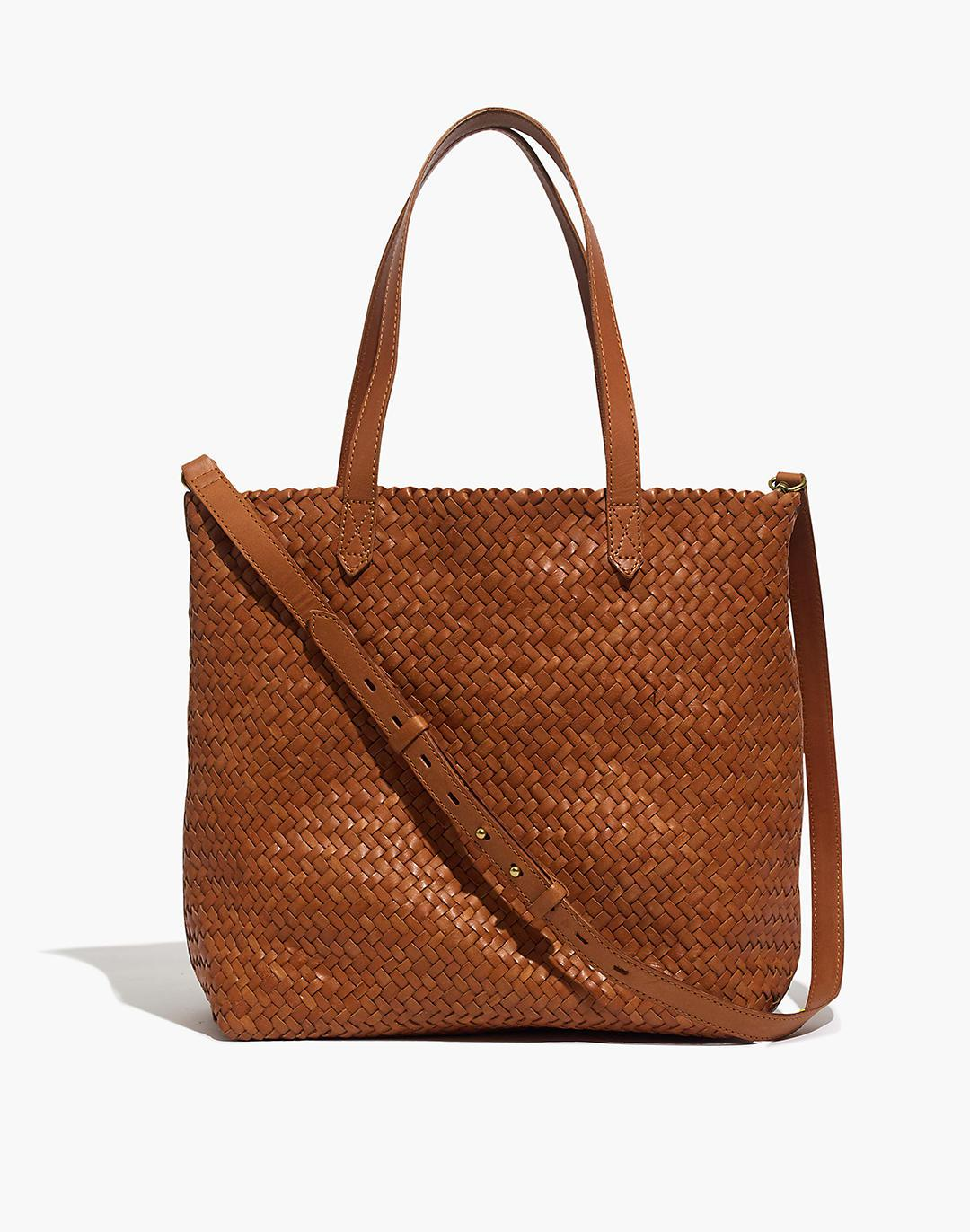 The Medium Transport Tote: Woven Leather Edition