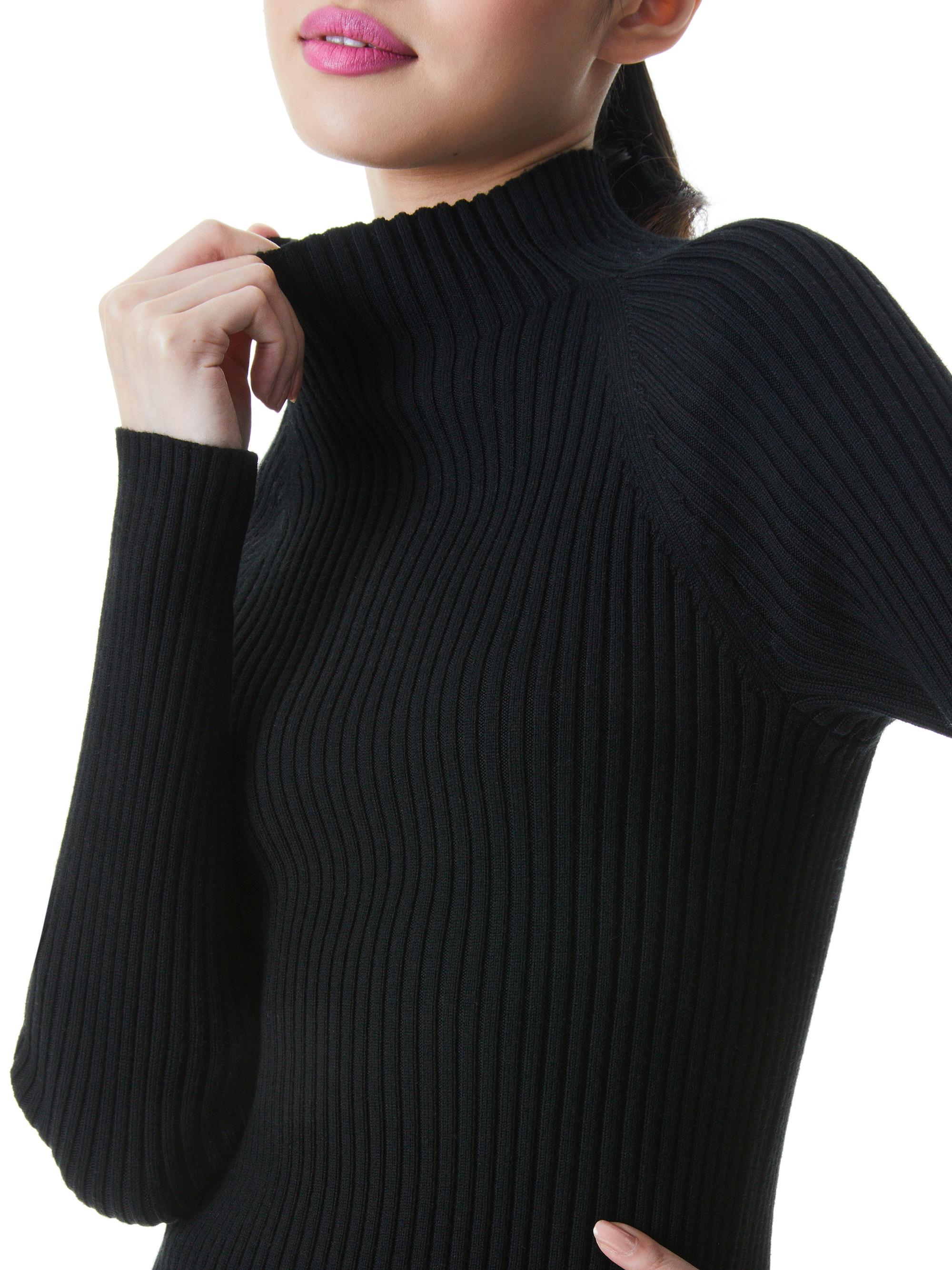 IRENA MOCK NECK CROPPED PULLOVER 4