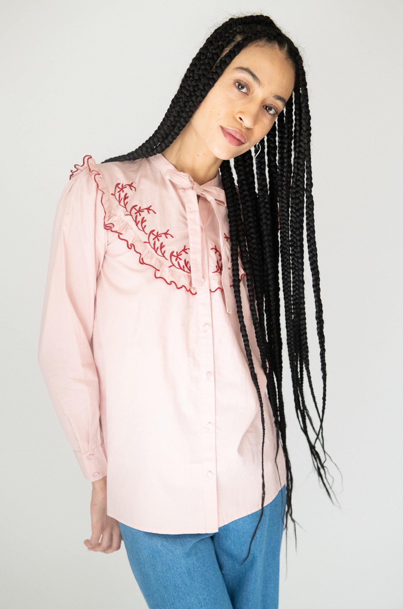 Lena Blouse in Pink 2