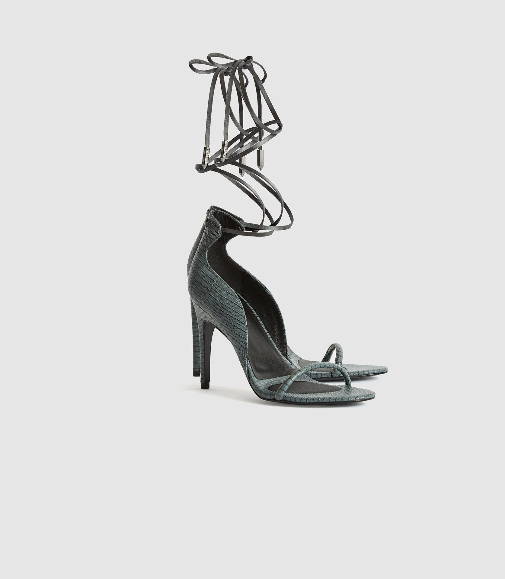 COCO - LEATHER STRAPPY WRAP SANDALS 1