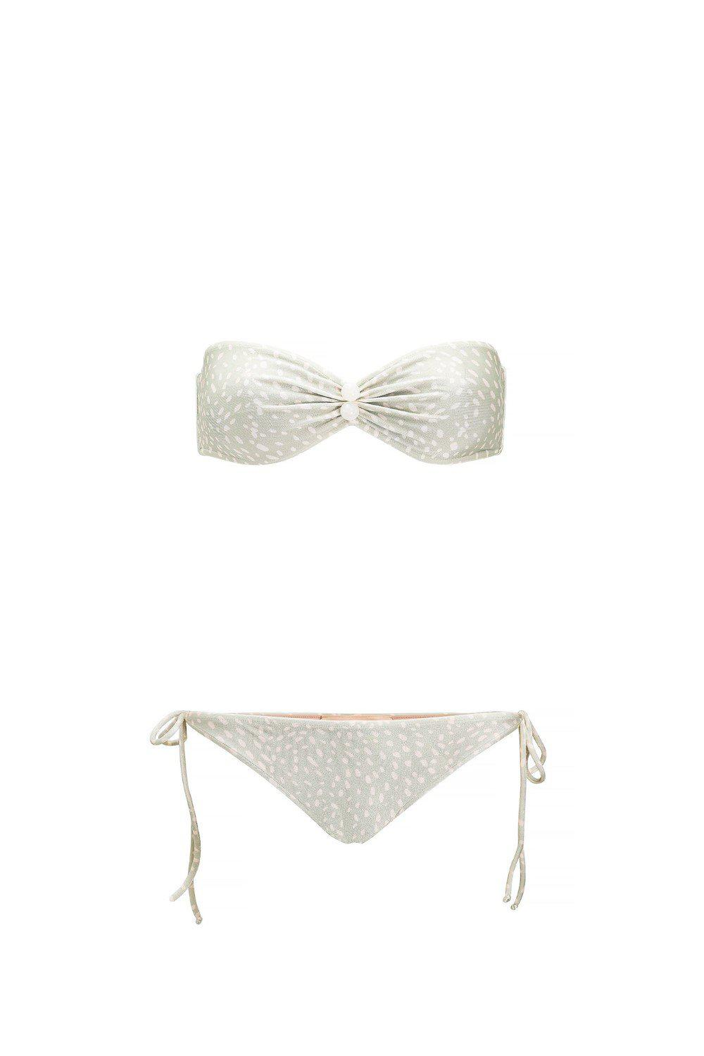 Pollen Strapless Bikini With Buttons 3