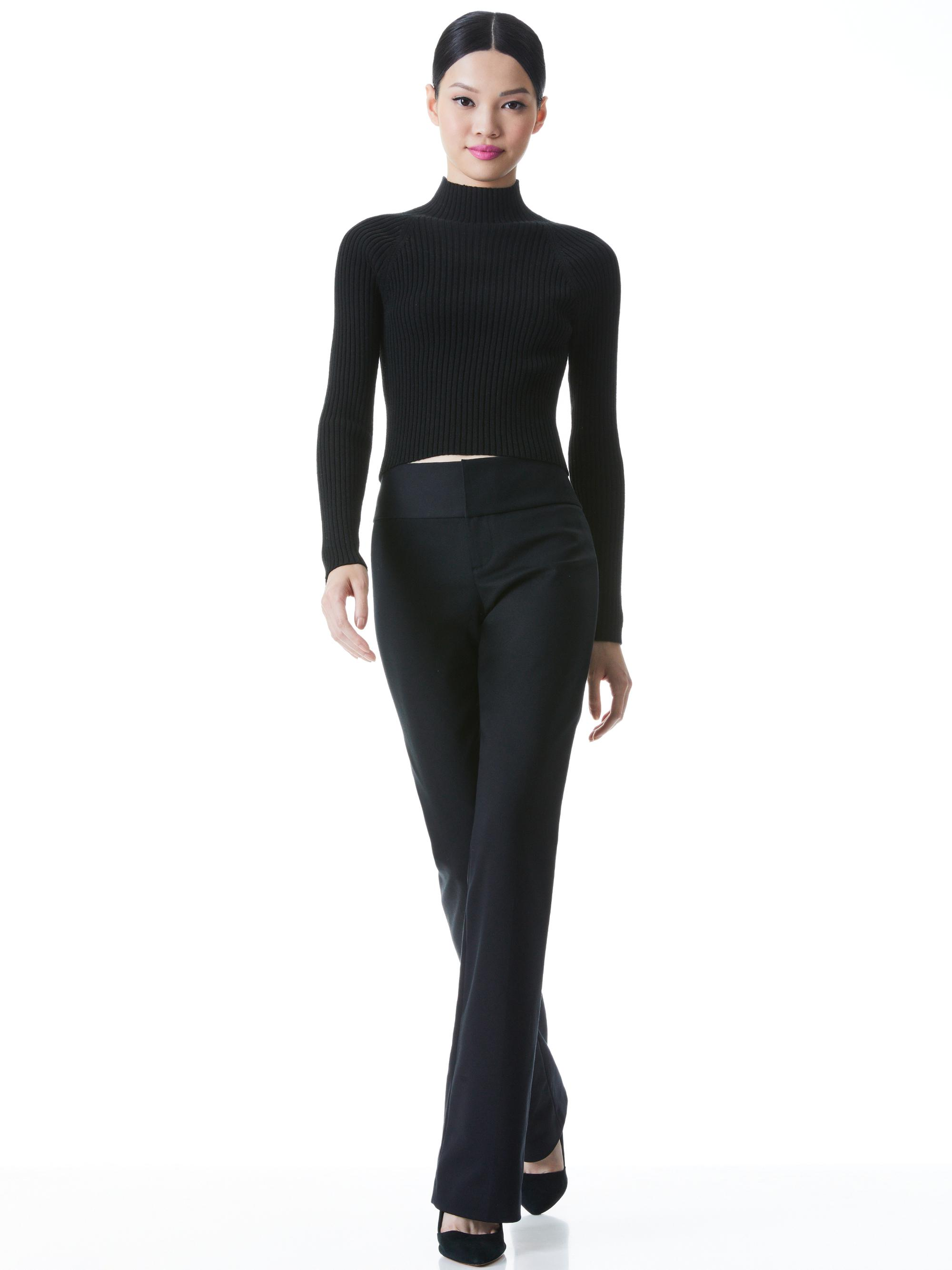 IRENA MOCK NECK CROPPED PULLOVER 3