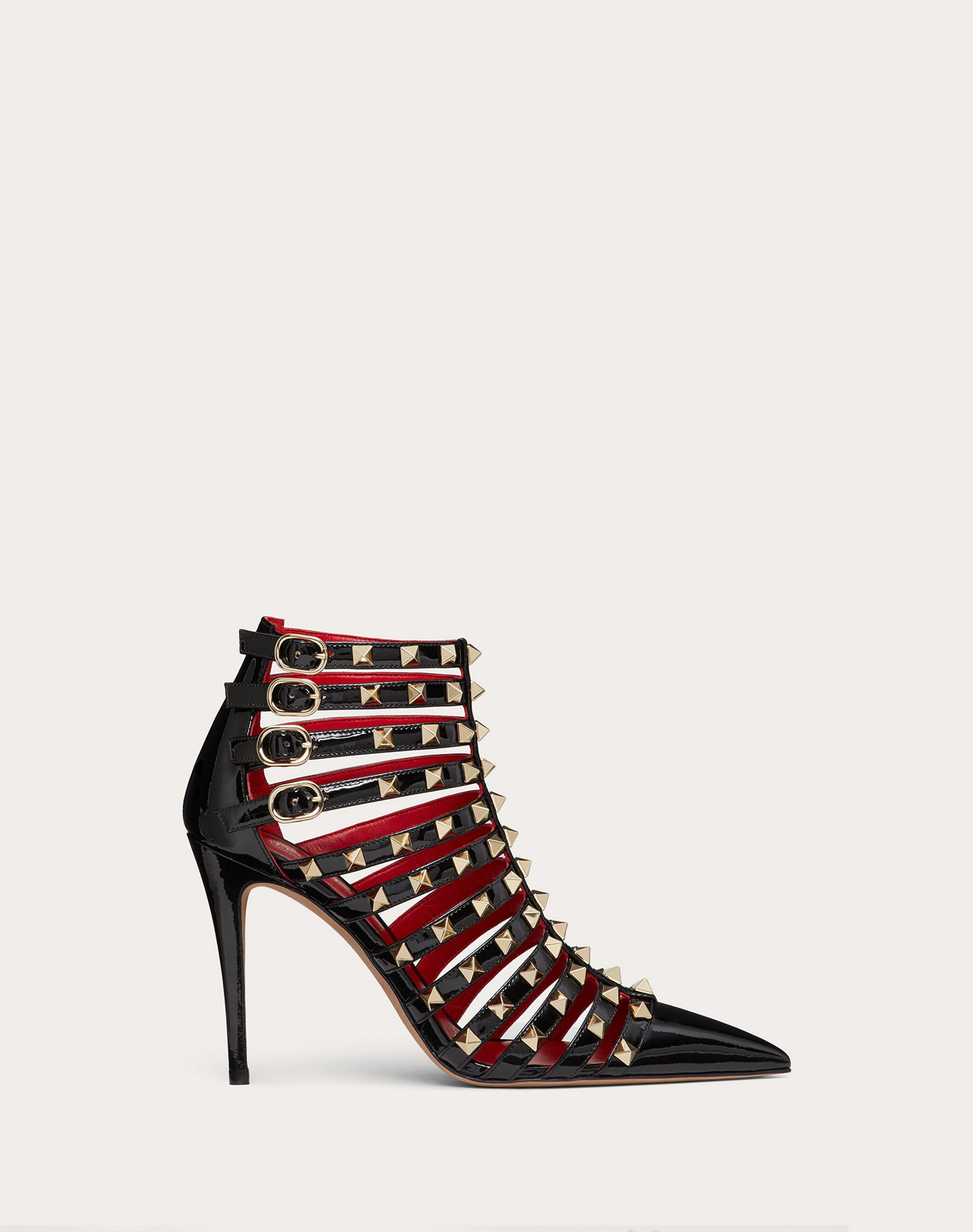 ROCKSTUD ALCOVE PATENT-LEATHER BOOT 100 MM