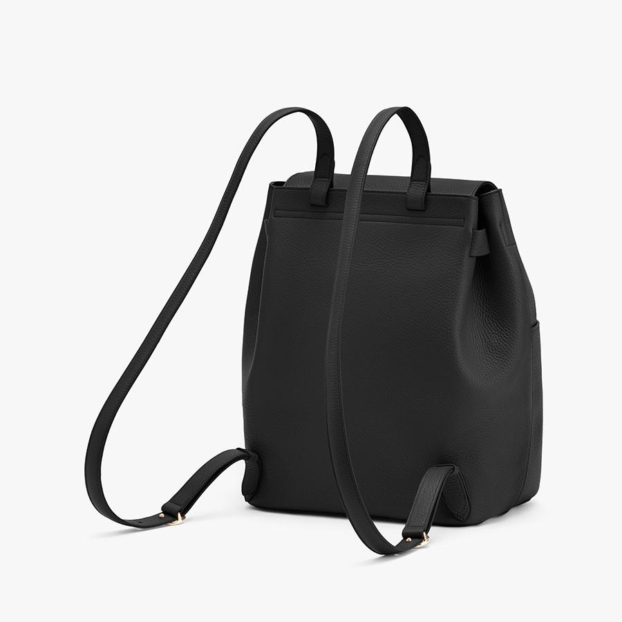Women's Leather Backpack in Black | Pebbled Leather by Cuyana 1