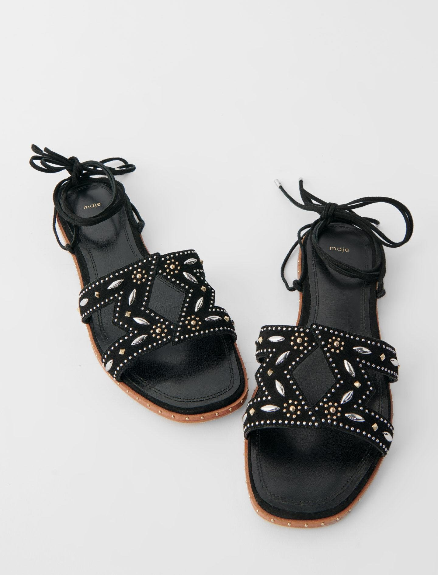 FLAT TIE SANDALS WITH STUDS 3